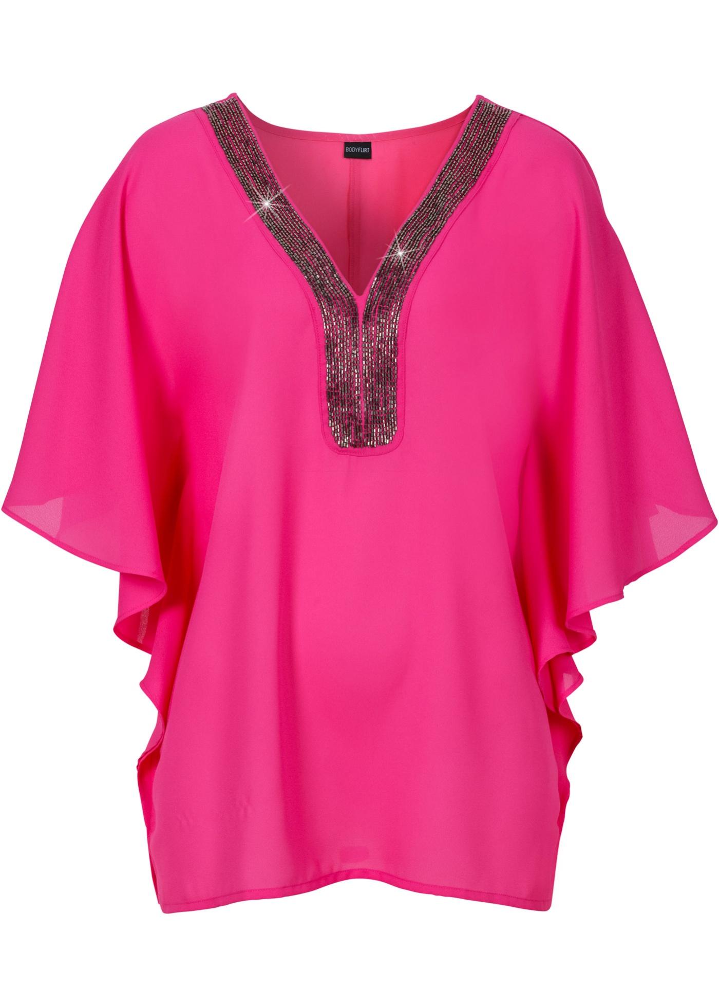 Tunika s ozdobnými kamínky - Pink
