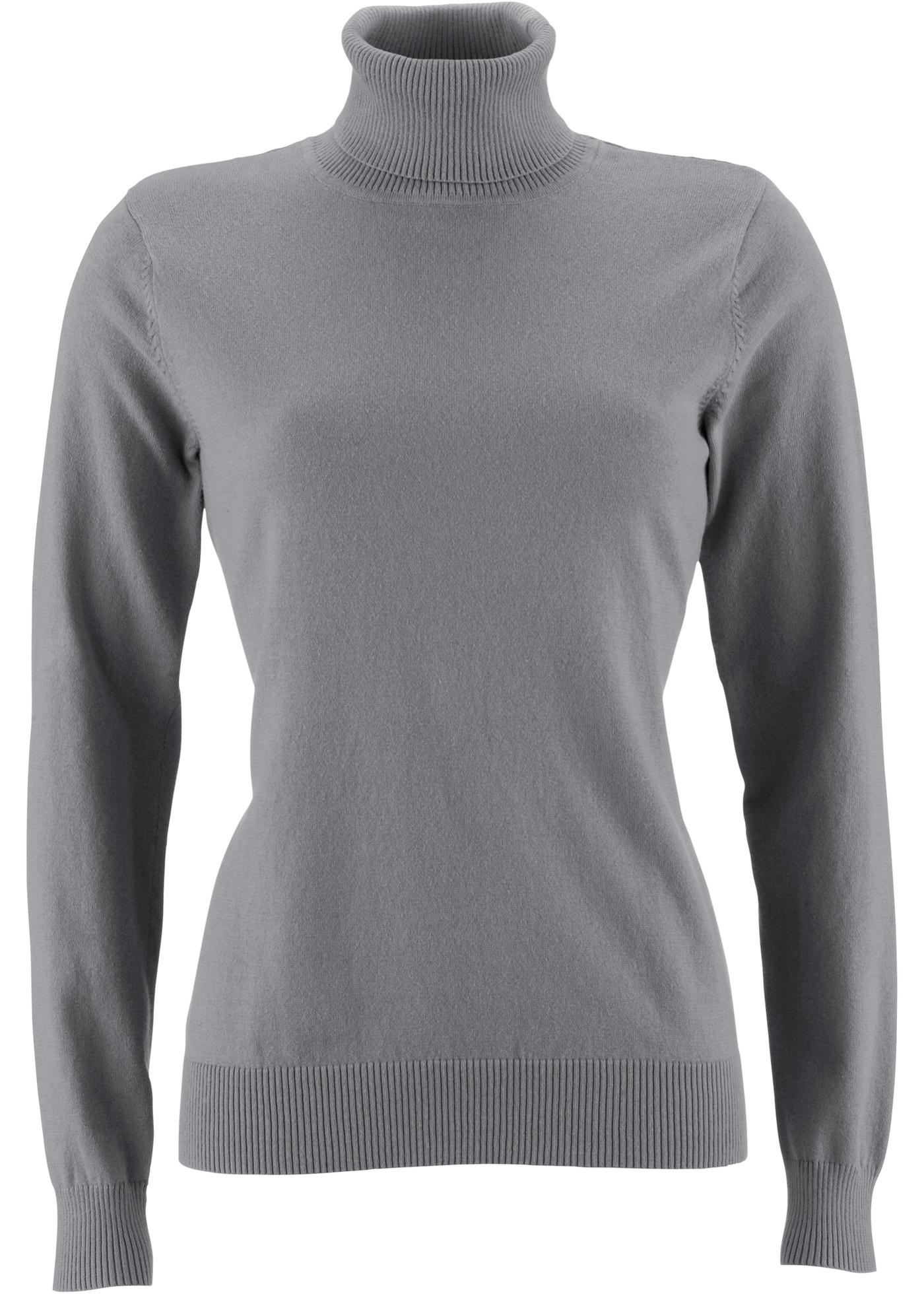 Rolákový pulovr - Šedá