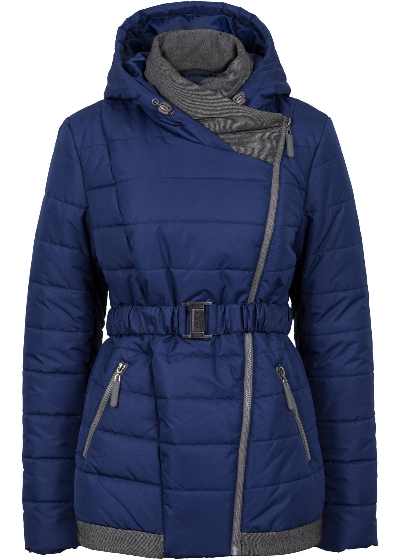 Krátký zimní kabát - Modrá