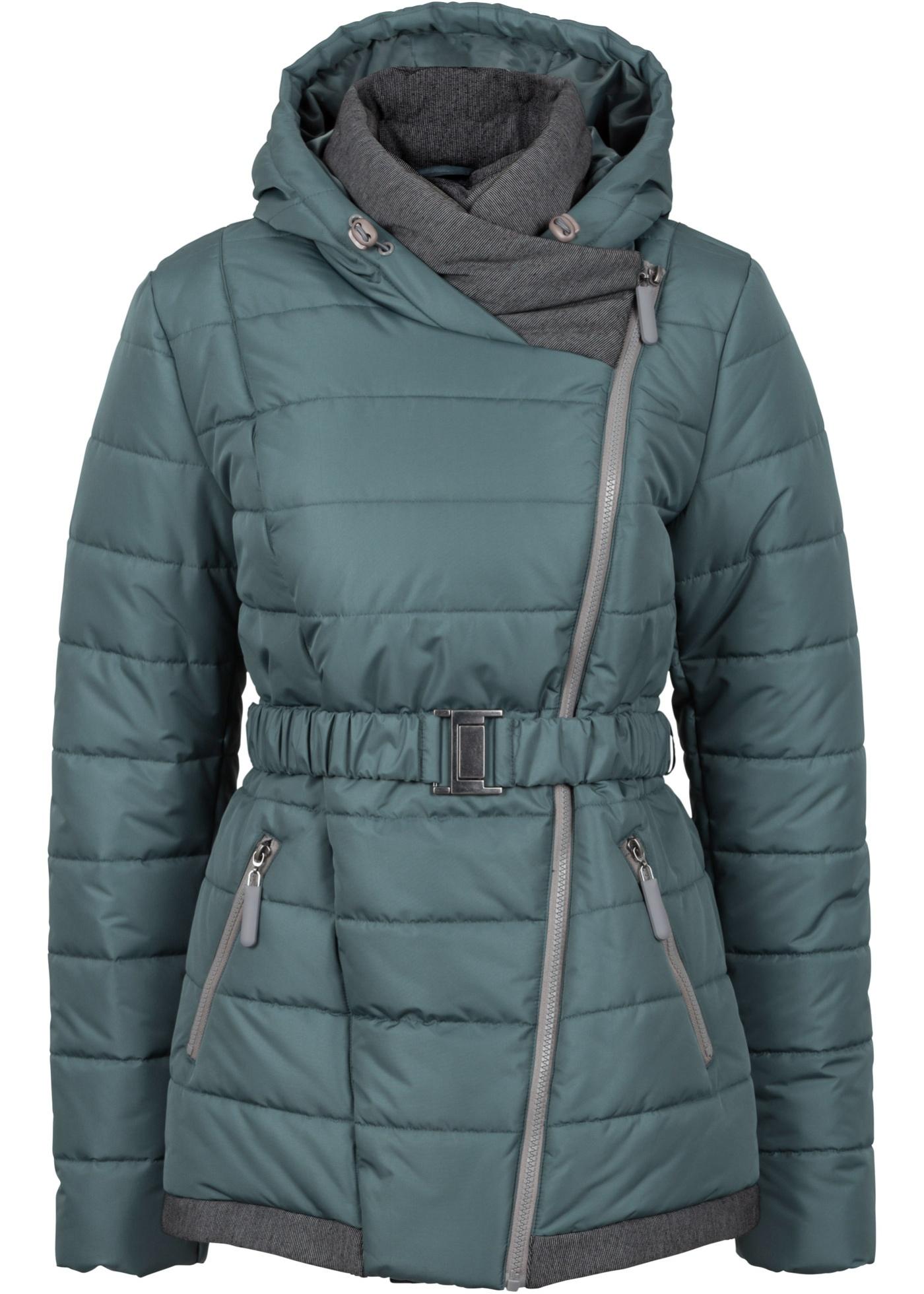 Krátký zimní kabát - Zelená
