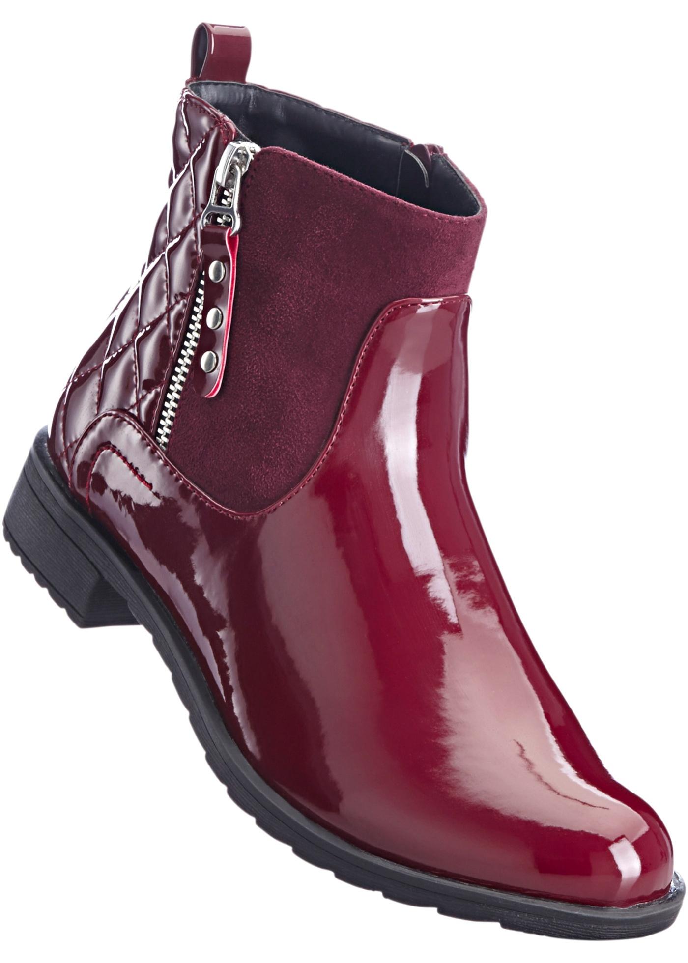 Kotníčková obuv - Červená