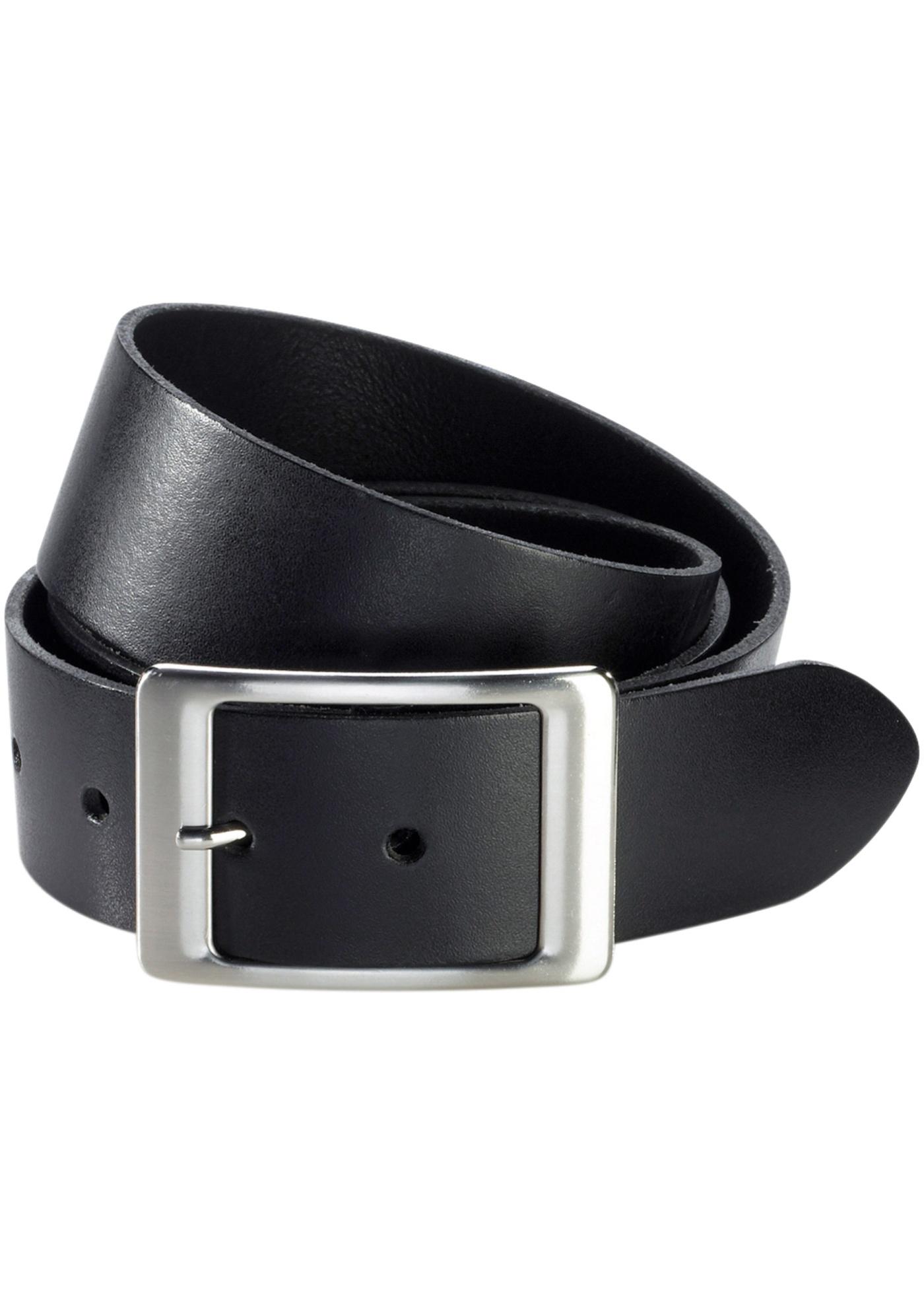 Kožený pásek - Černá