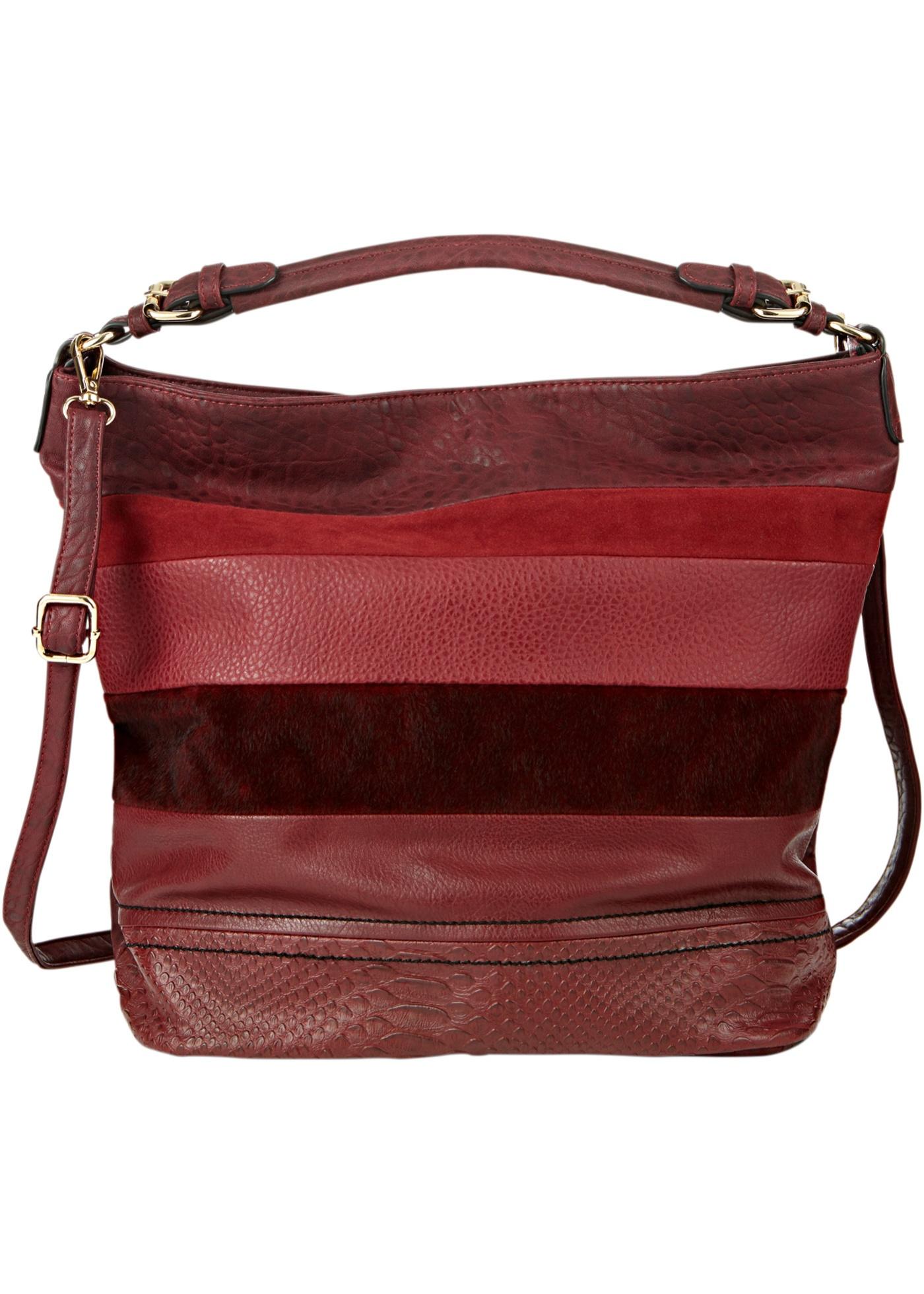 46e657e94b Kabelka s patchworkovým designem - Červená