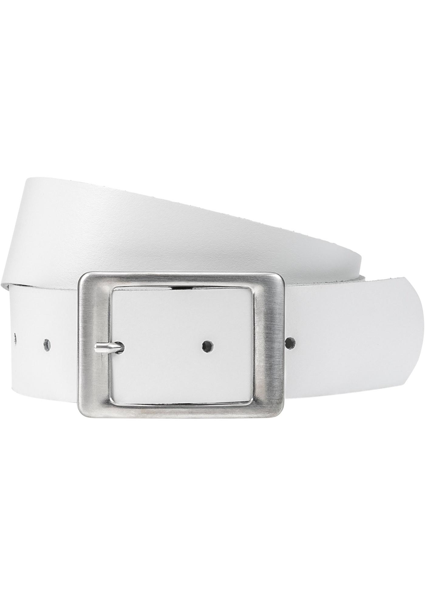 Kožený pásek - Bílá