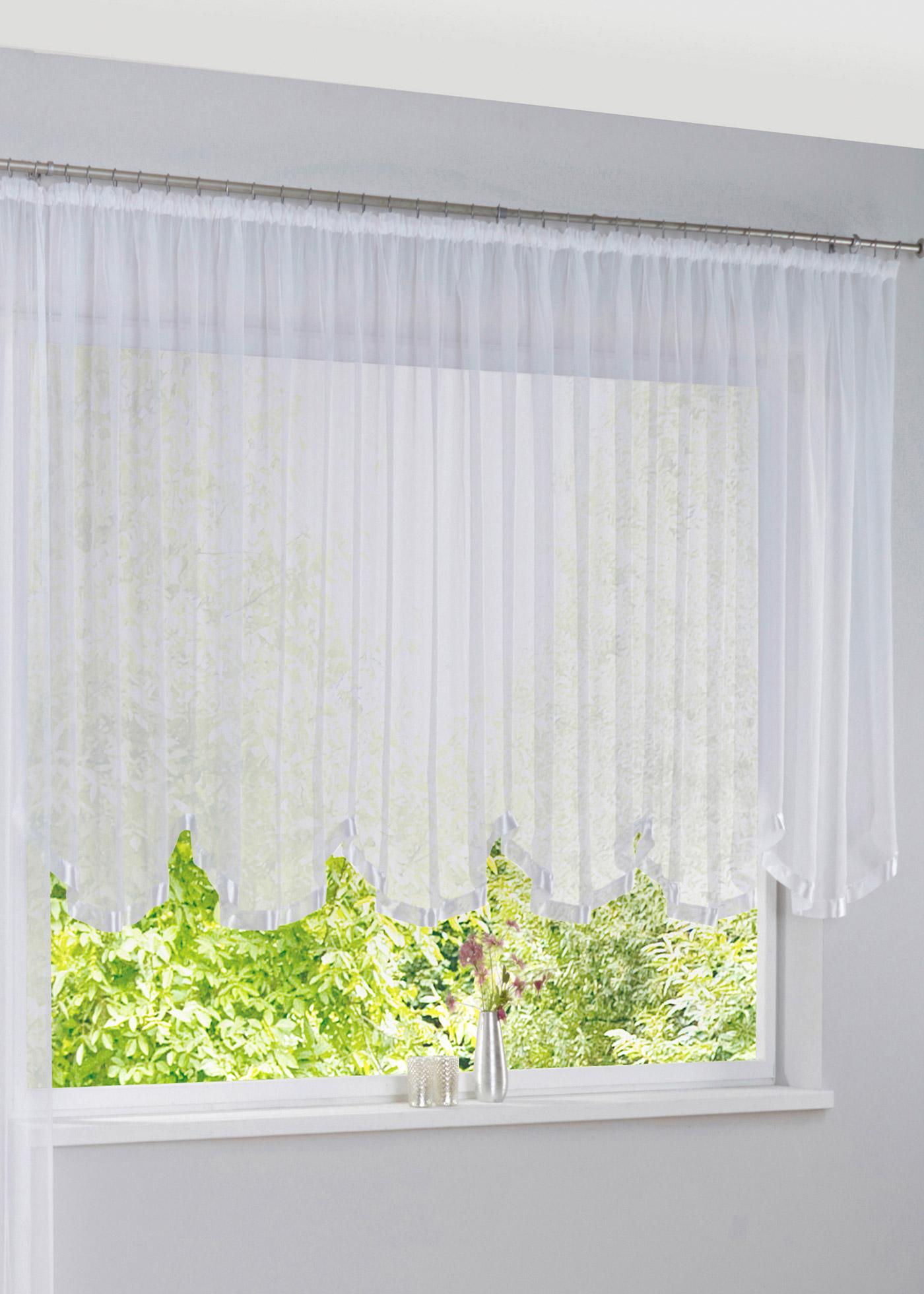 Zvlněná záclona Elly (1 ks v balení) - Bílá