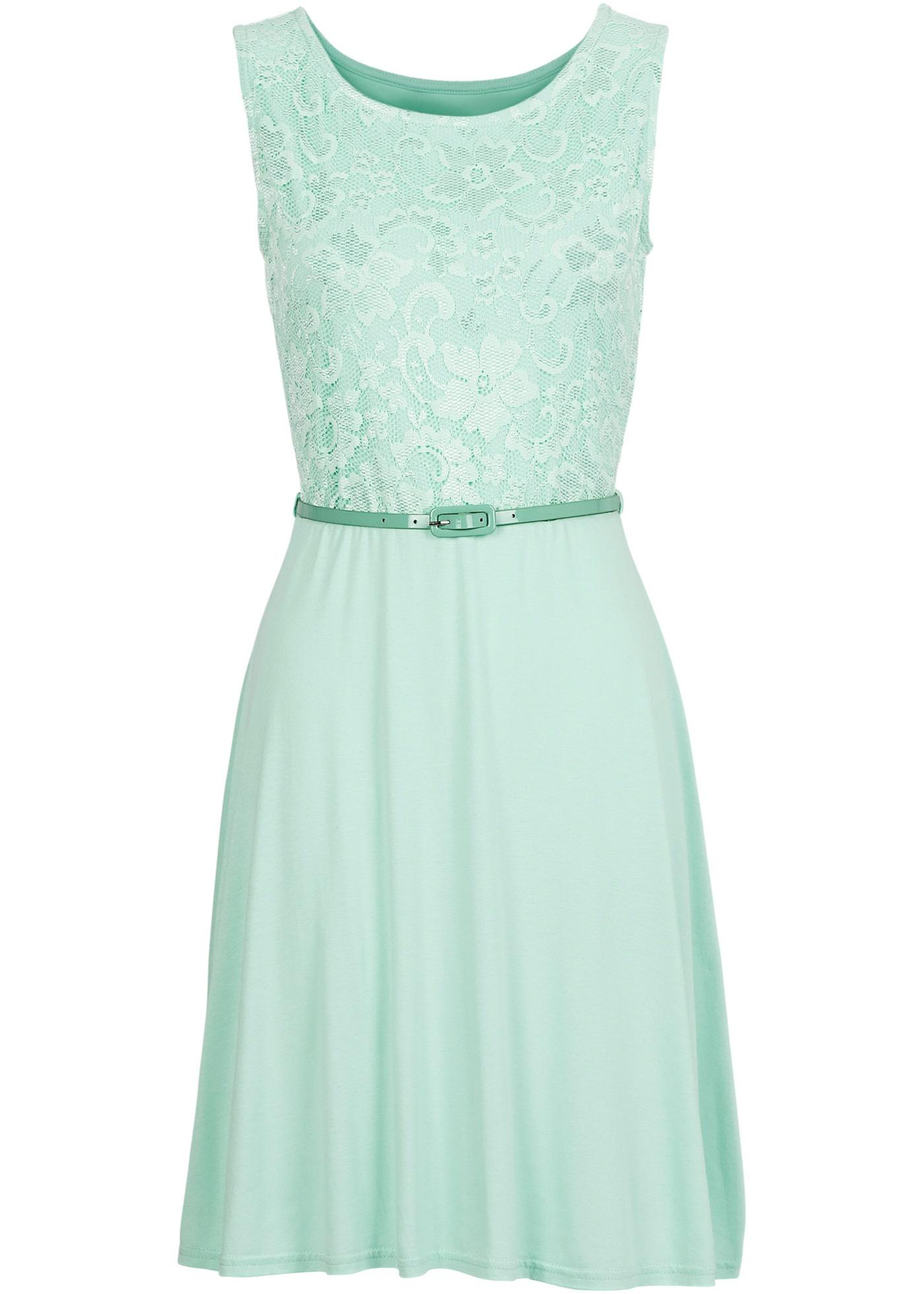 Šaty s krajkou - Zelená