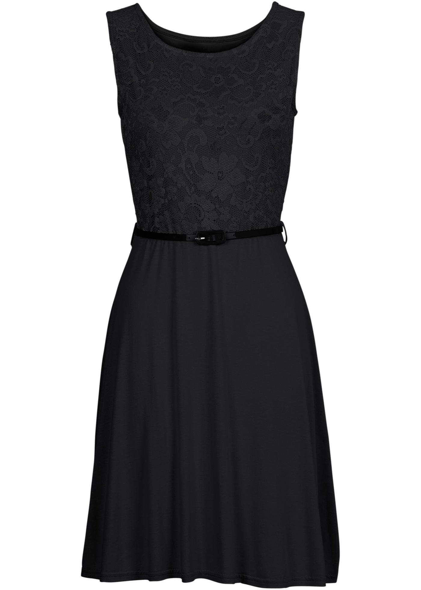Šaty s krajkou - Černá