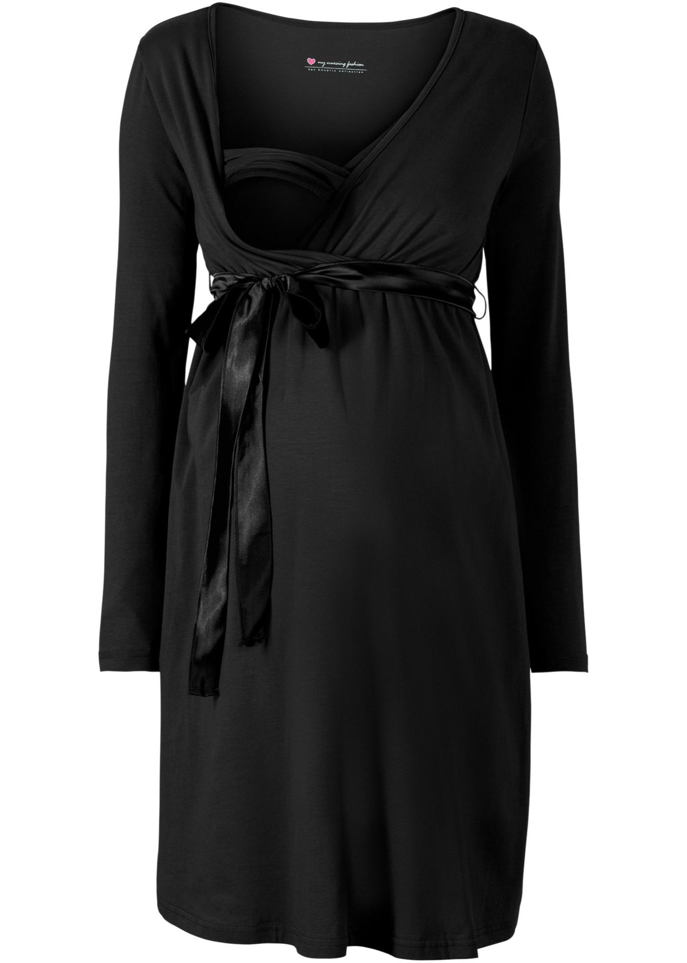 Těhotenské/kojící šaty - Černá