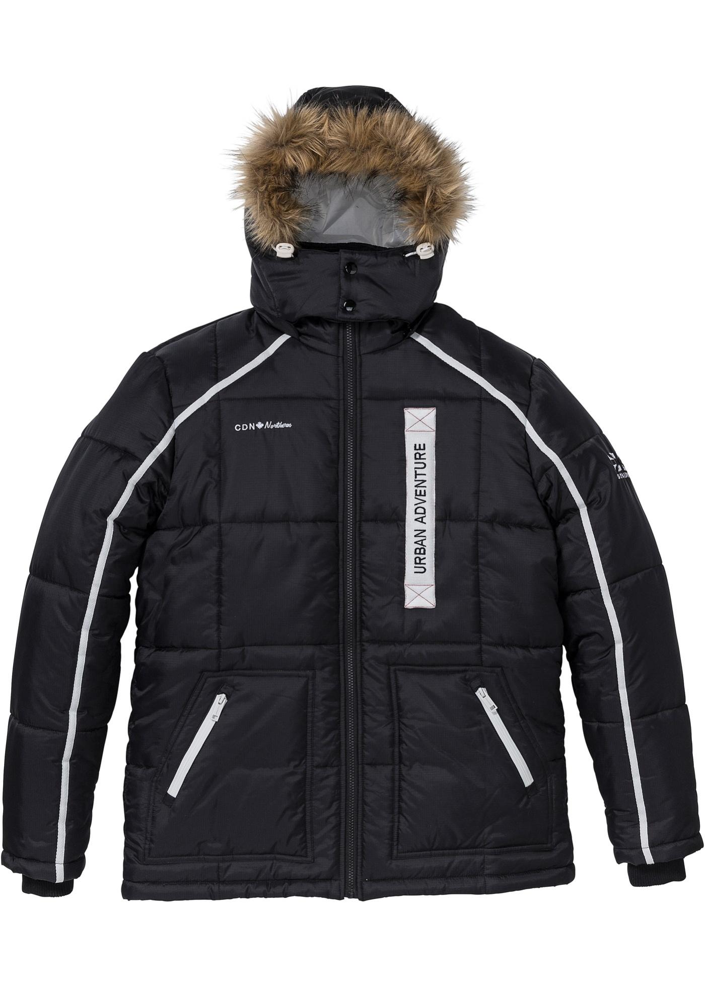 Prošívaná bunda Regular Fit - Černá