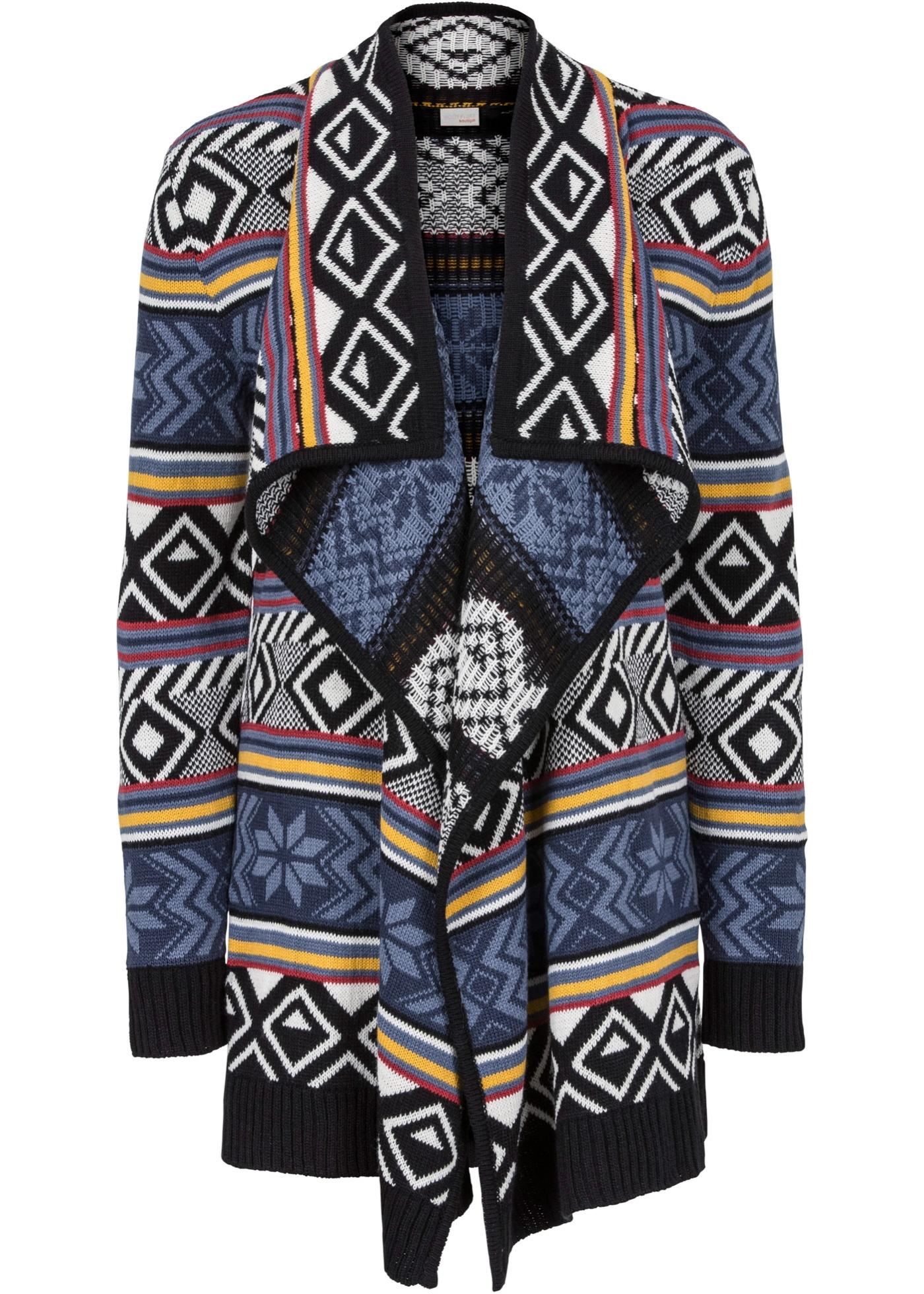Pletený kabátek - Černá