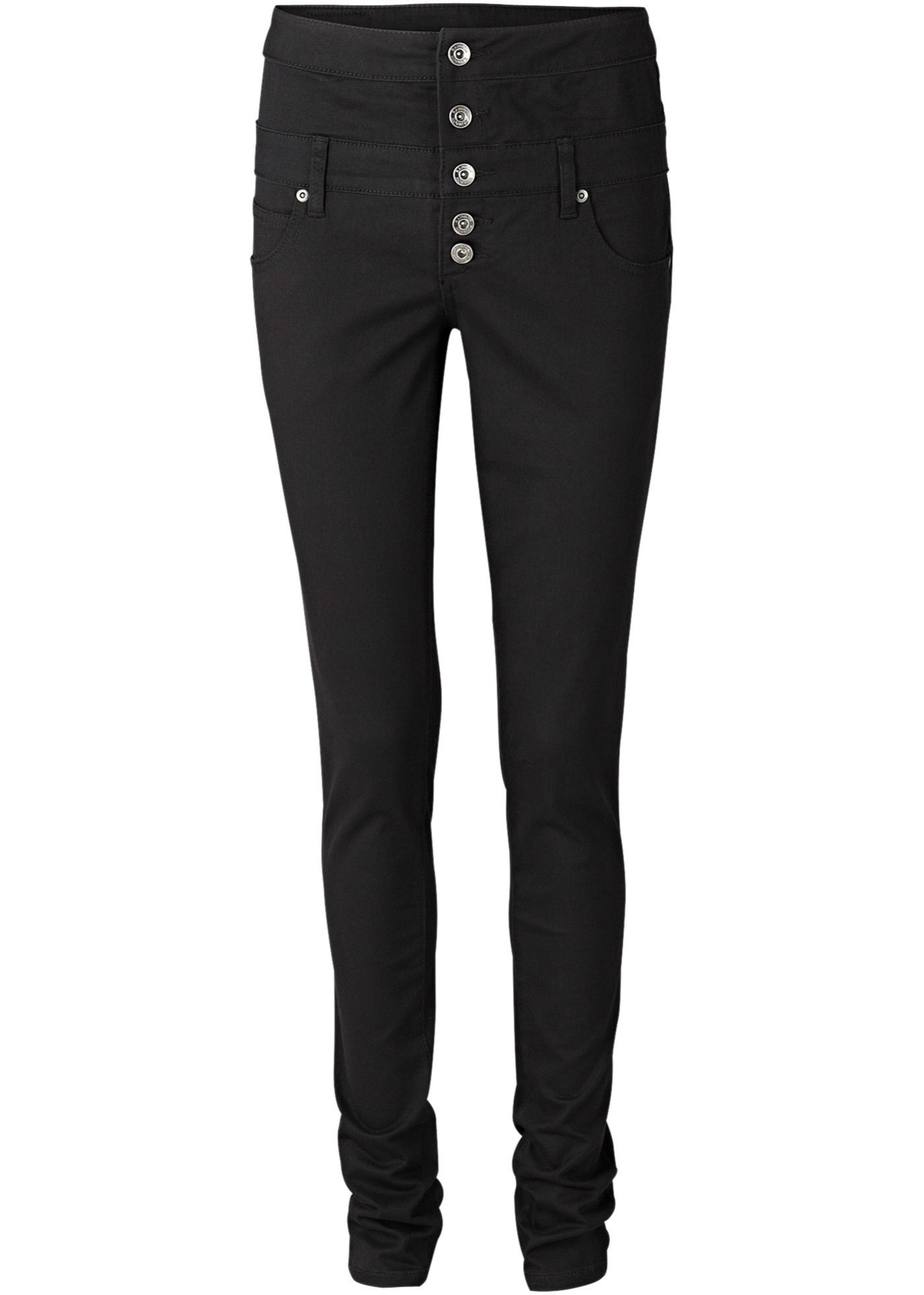 Strečové kalhoty Skinny - Černá