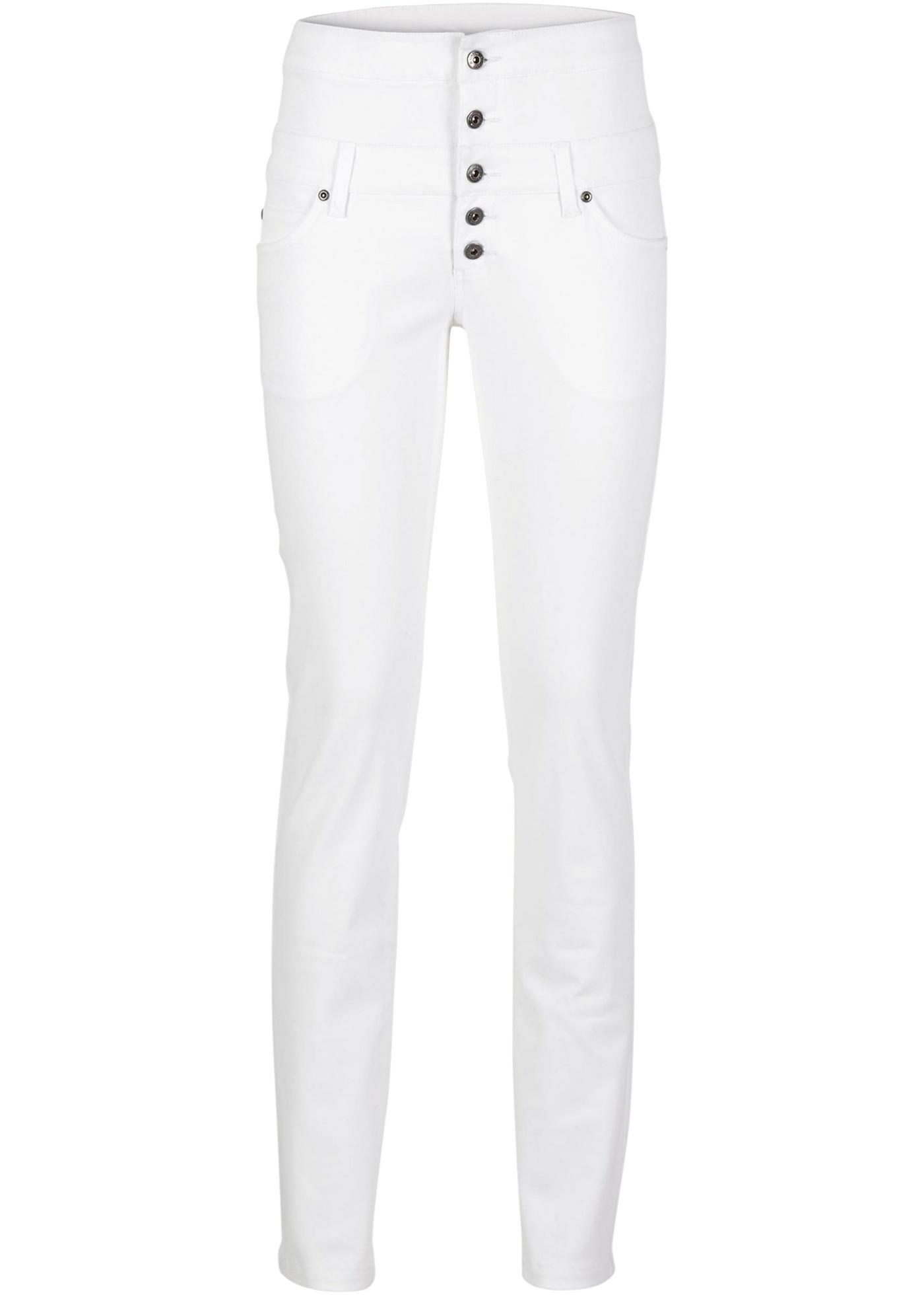 Strečové kalhoty Skinny - Bílá