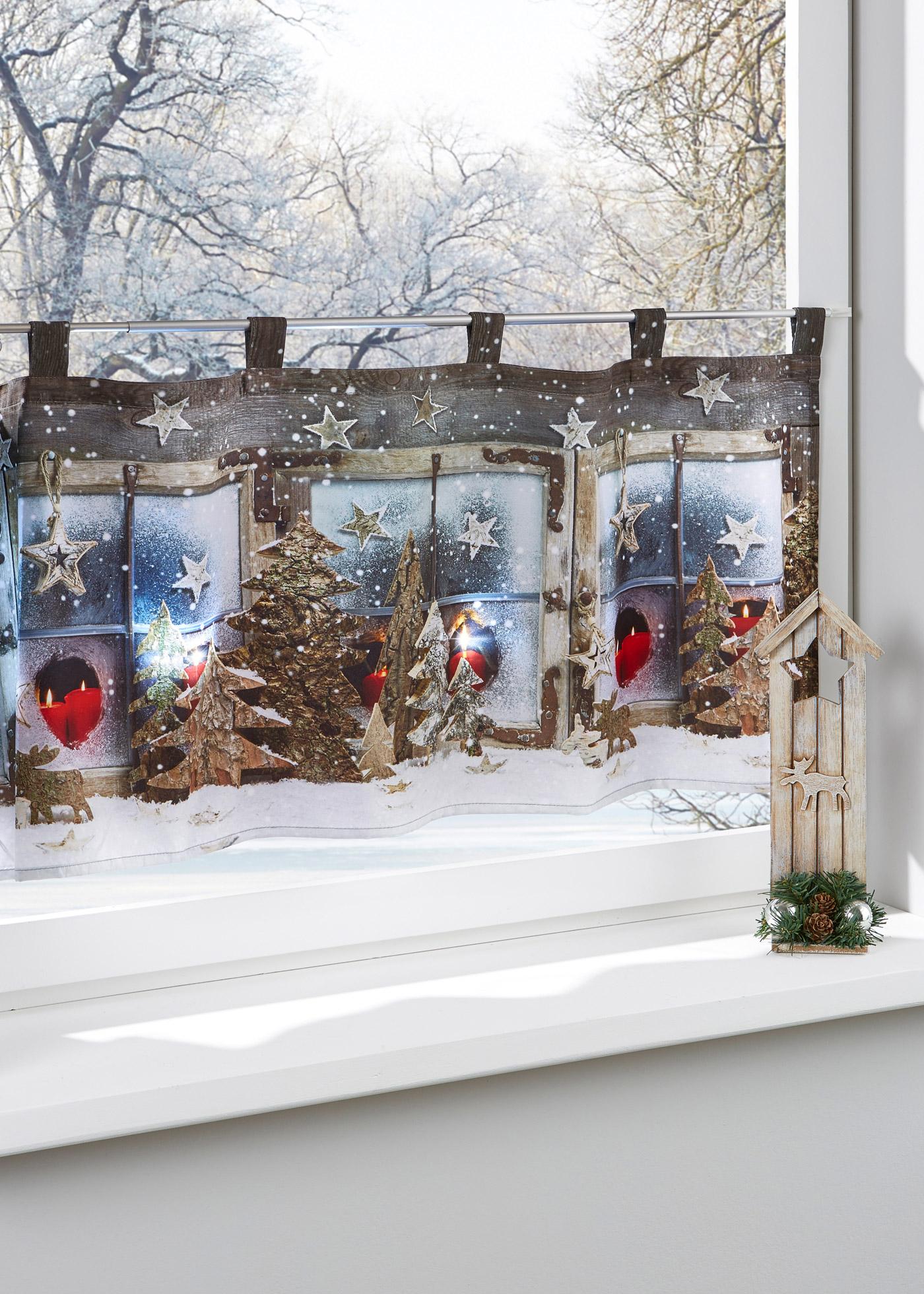 Okenní LED-závěs ''Vánoční kouzlo'' - Pink