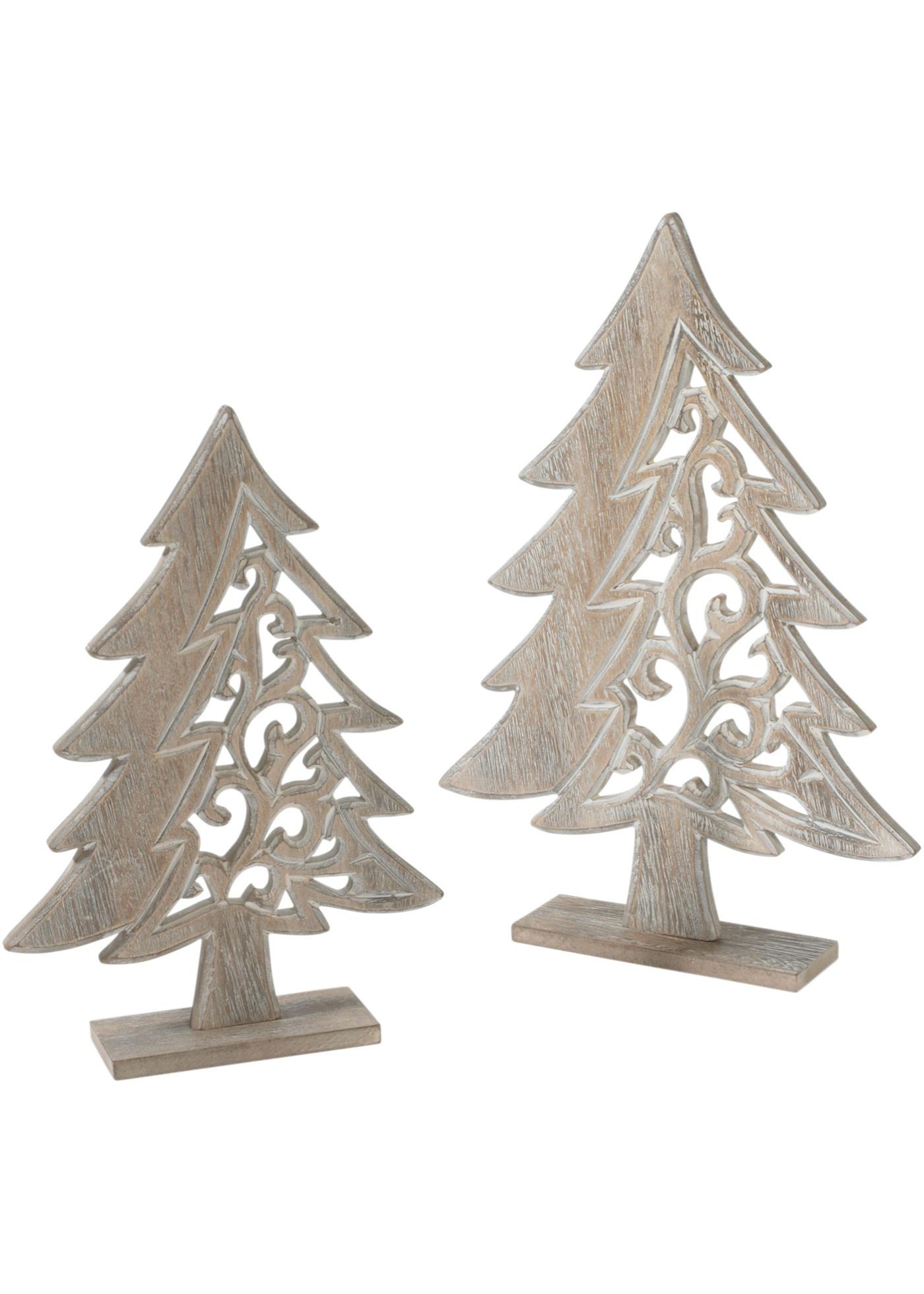 Vánoční dekorace Stromeček, ze dřeva, (2dílná souprava)