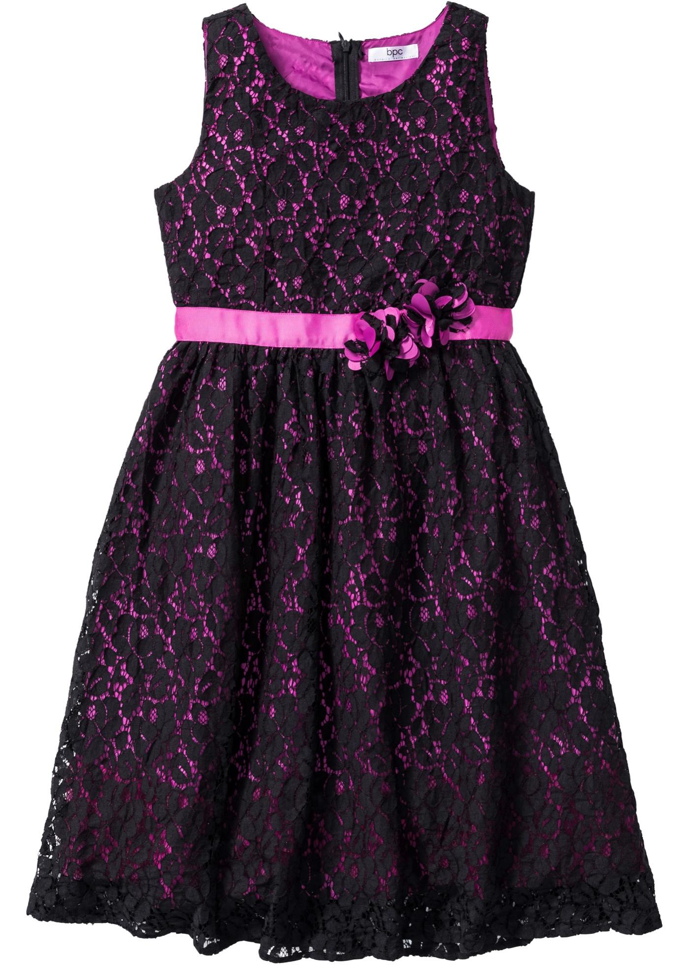 Krajkové šaty - Černá
