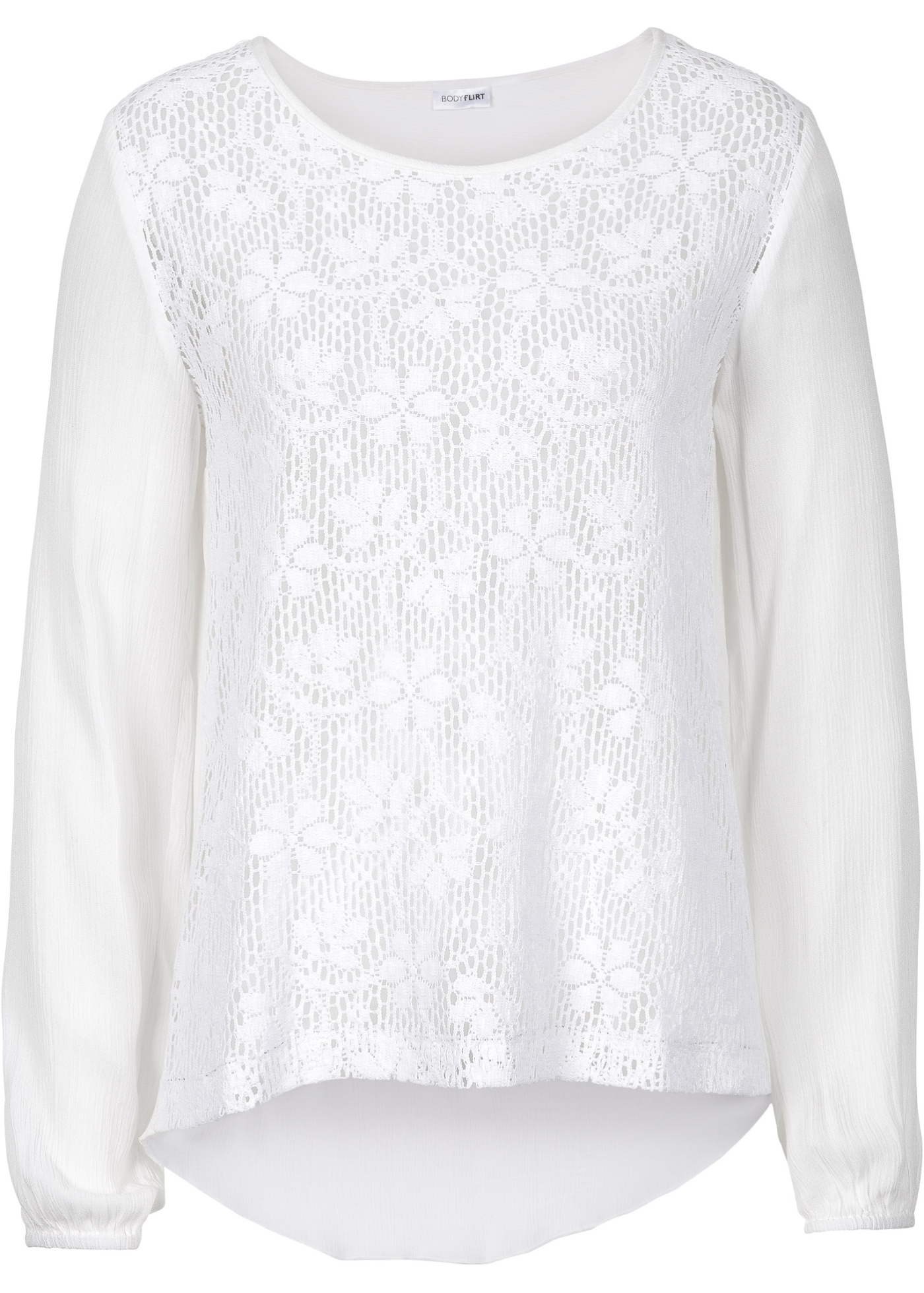 Krajková halenka z bavlny - Bílá