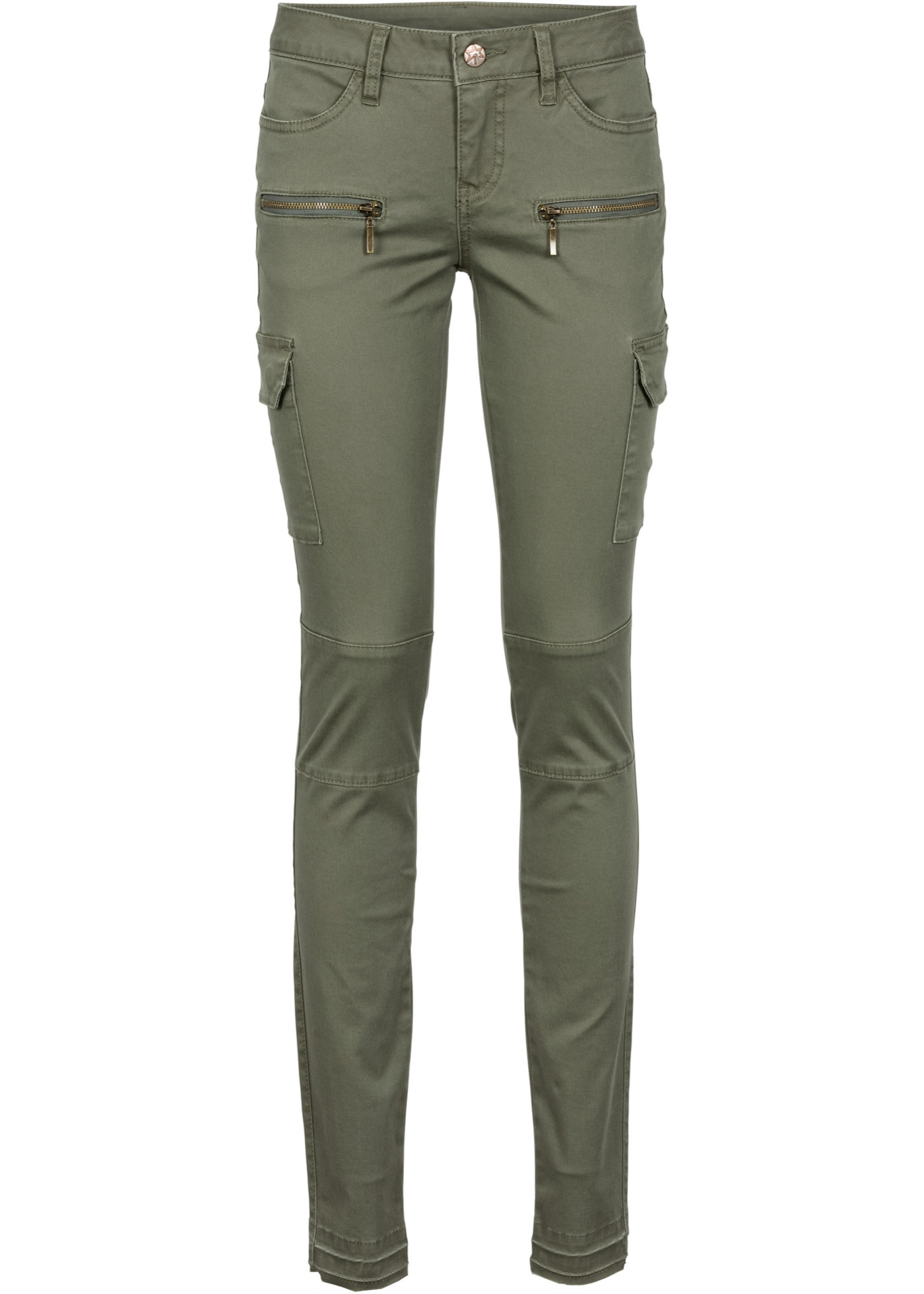 Kargo kalhoty, Skinny - Zelená