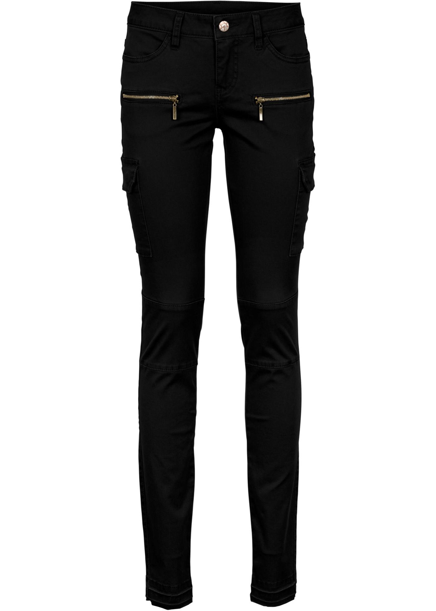 Kargo kalhoty, Skinny - Černá