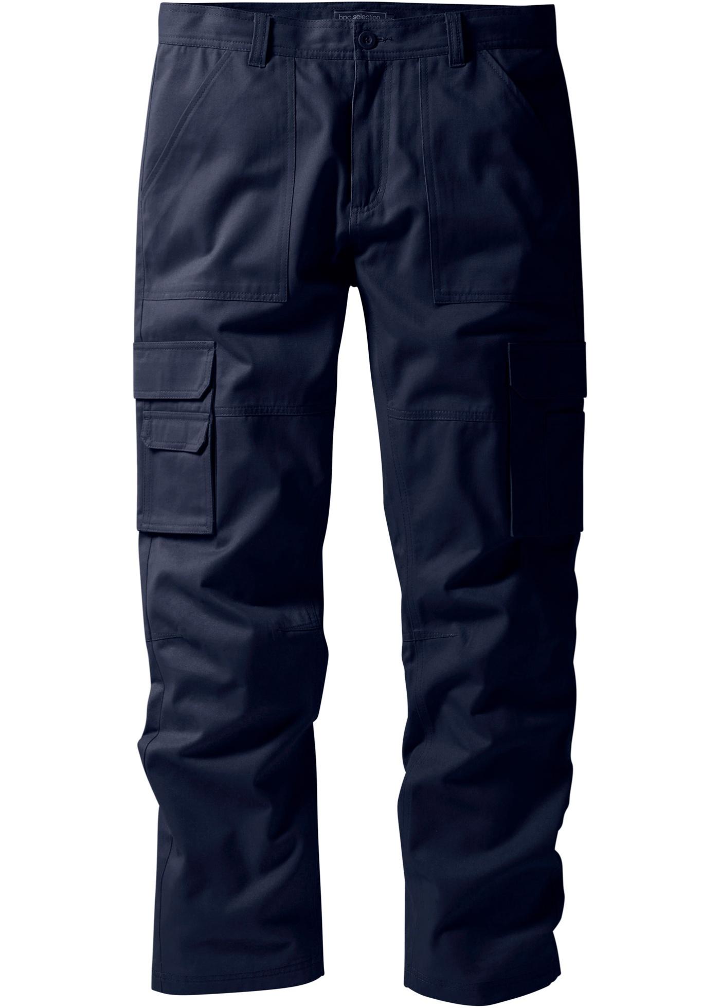 Kargo kalhoty Regular Fit Straight - Modrá