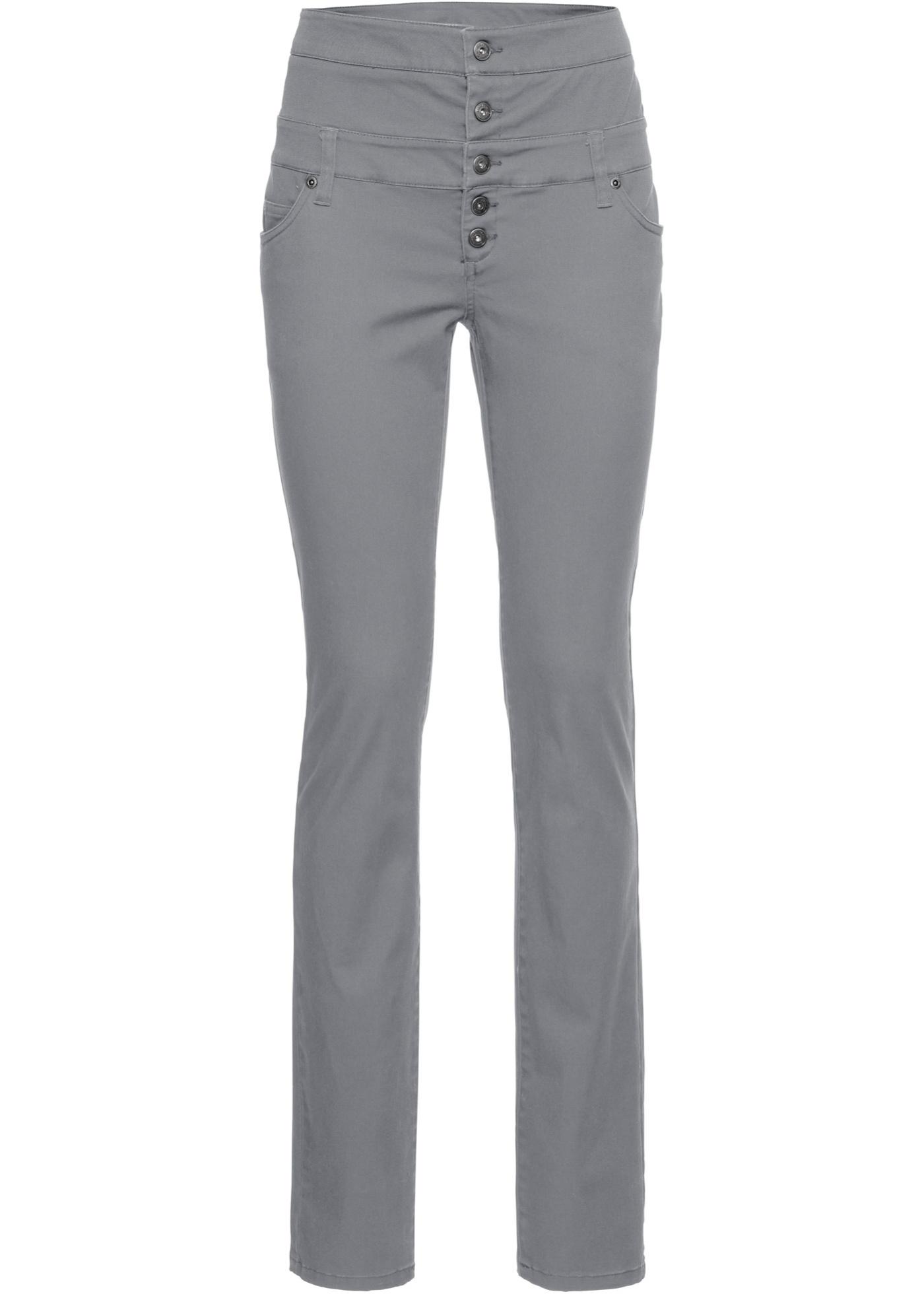 Strečové kalhoty Skinny - Šedá