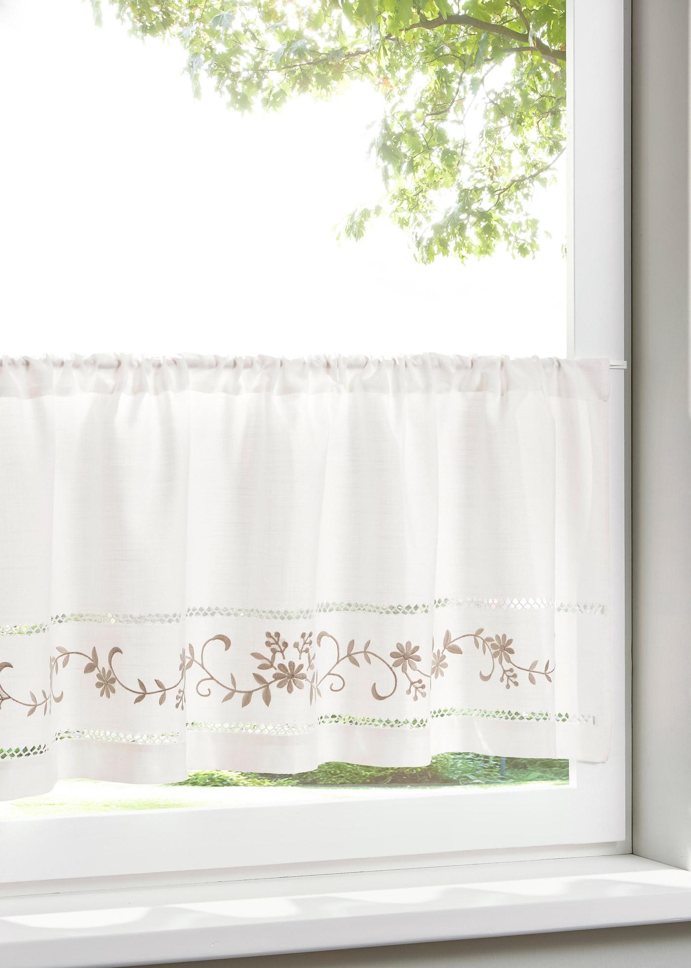Krátká záclona Paulina - Bílá