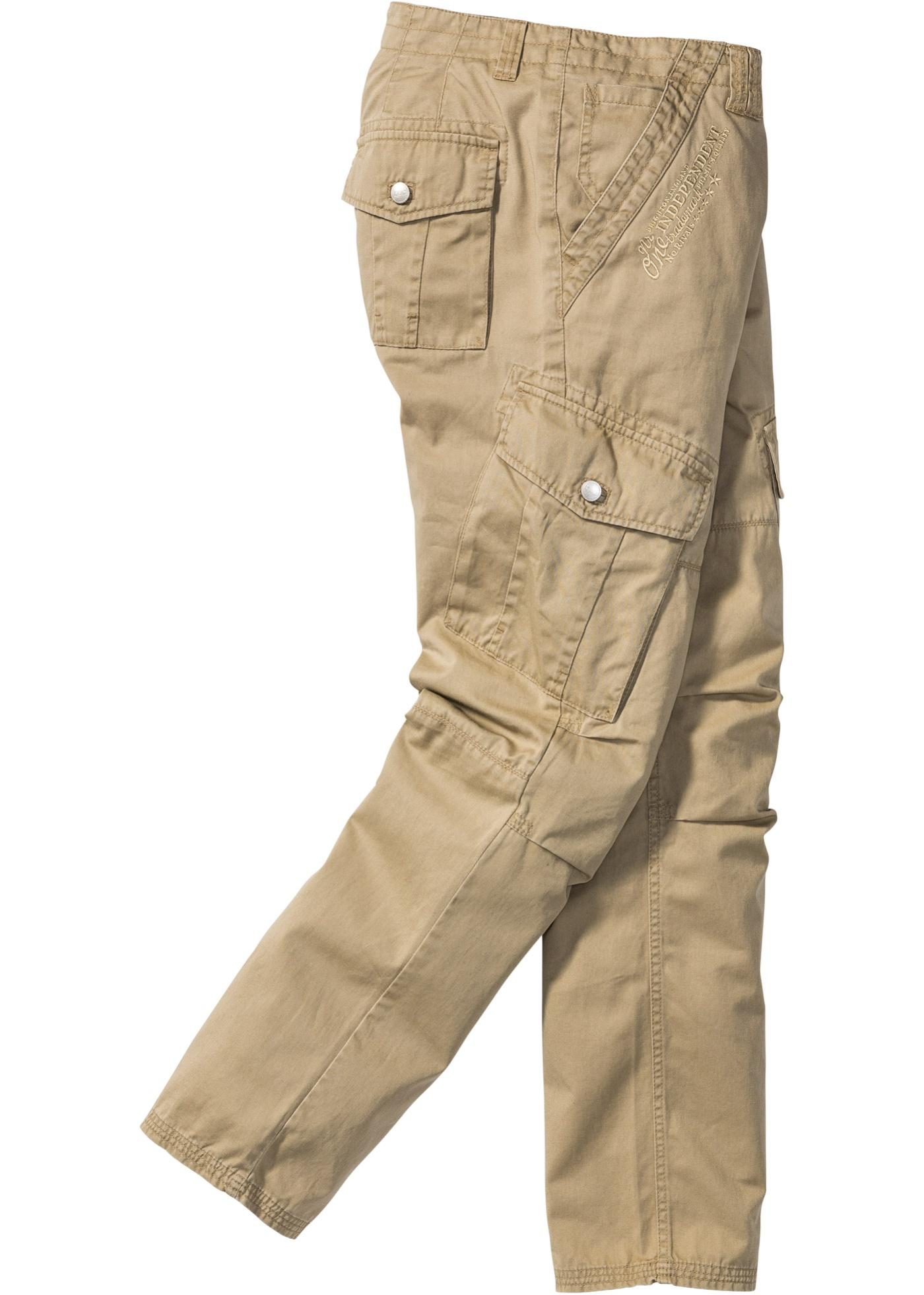 Kargo kalhoty Regular Fit - Béžová