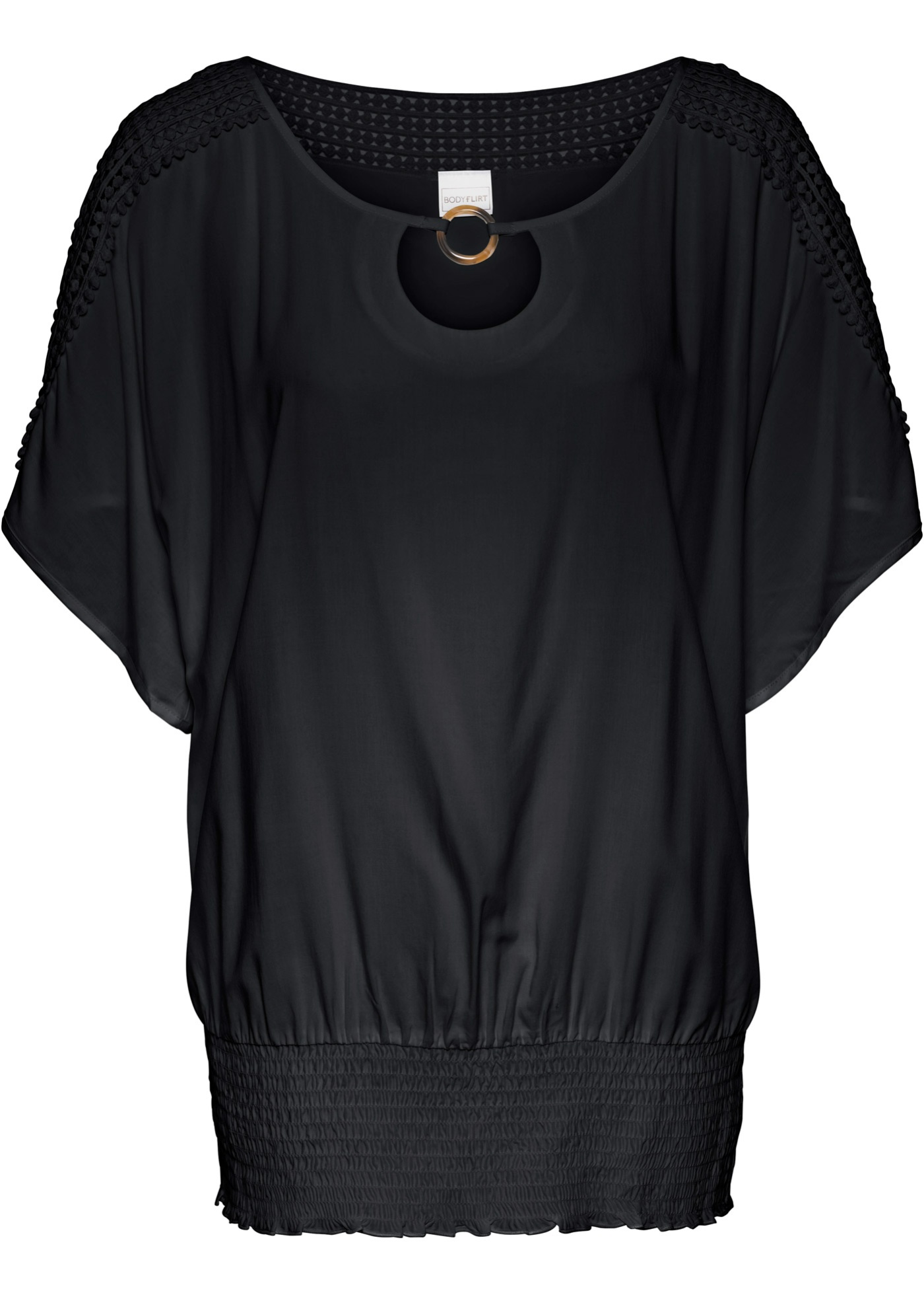 Tunika s krajkou - Černá