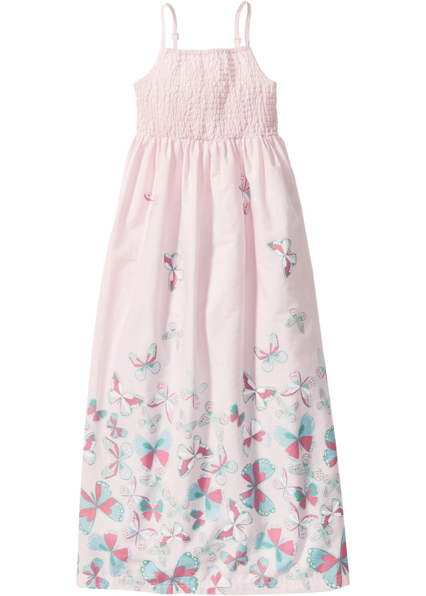 Levné Dívčí dlouhé šaty   Růžová barva šatů