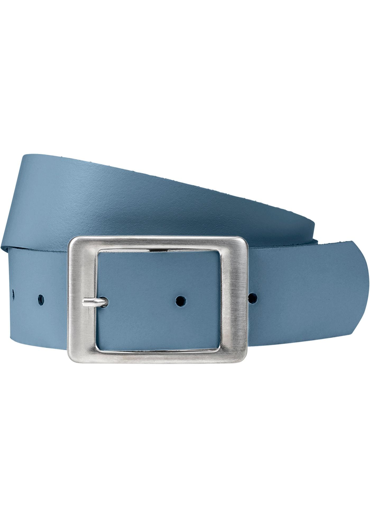 Kožený pásek - Modrá