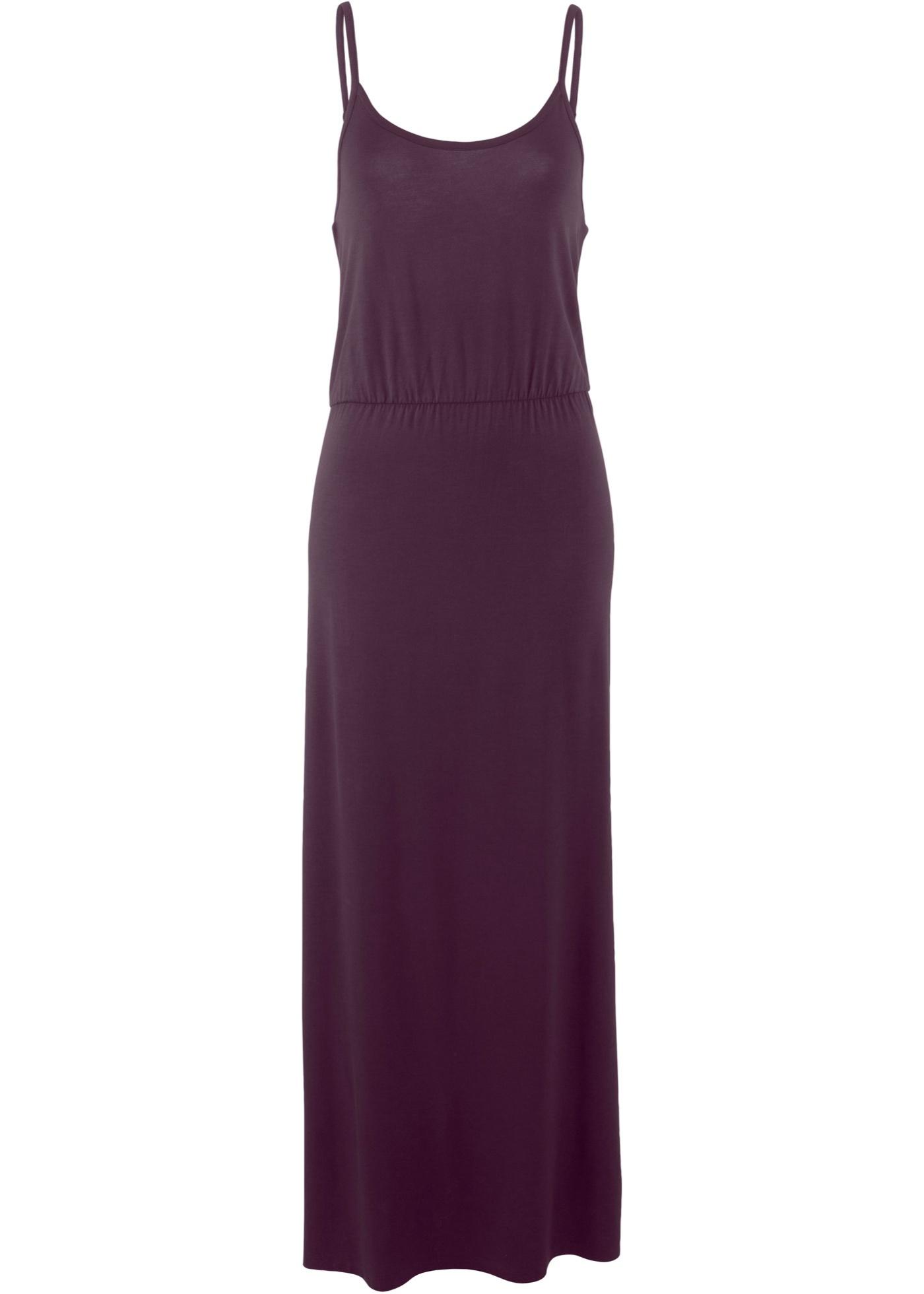 Úpletové šaty bez rukávů - Fialová