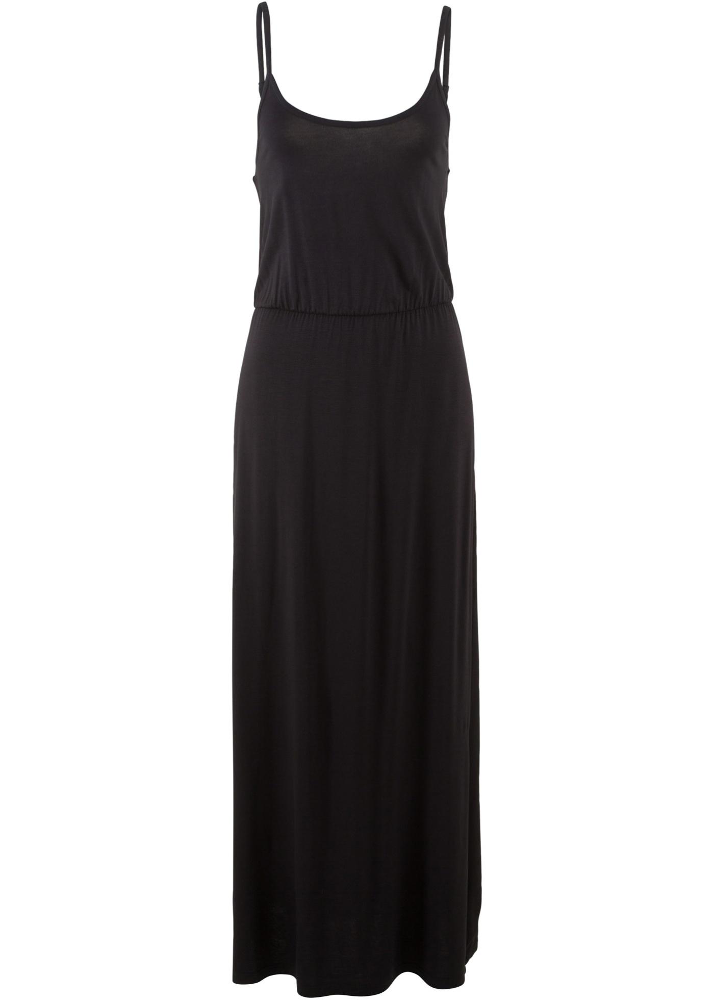 Úpletové šaty bez rukávů - Černá