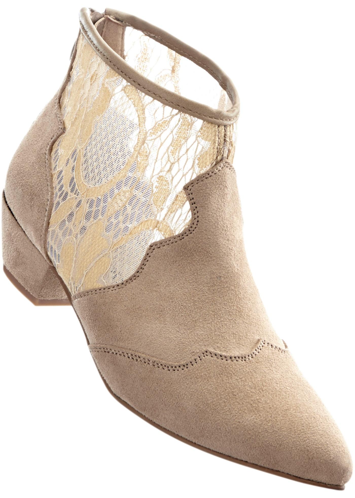 Kotníčková obuv - Béžová