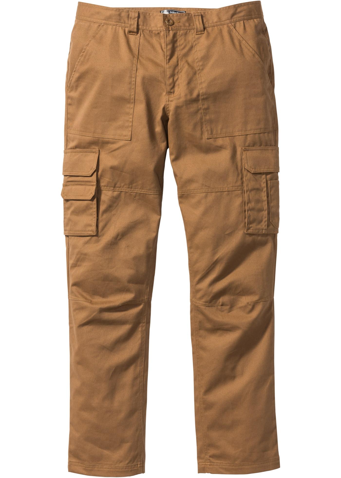 Kargo kalhoty Regular Fit Straight - Hnědá