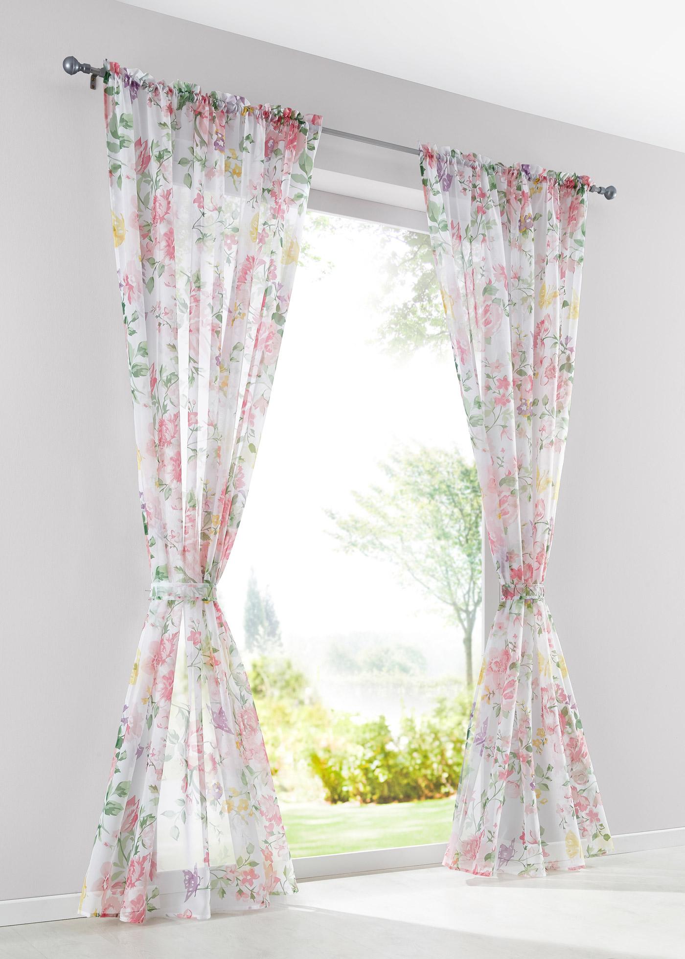 Záclona Nida (1 ks v balení) - Růžová