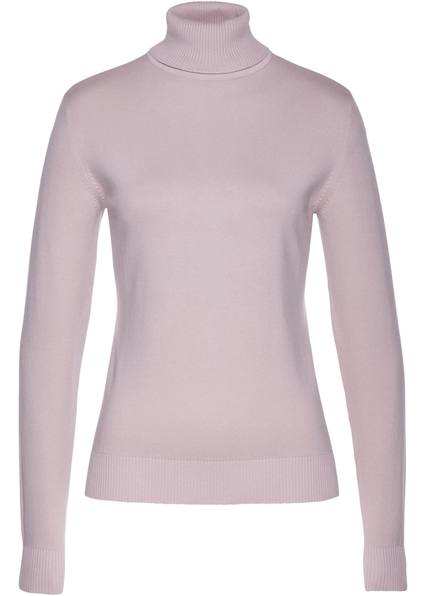 Rolákový pulovr - Fialová