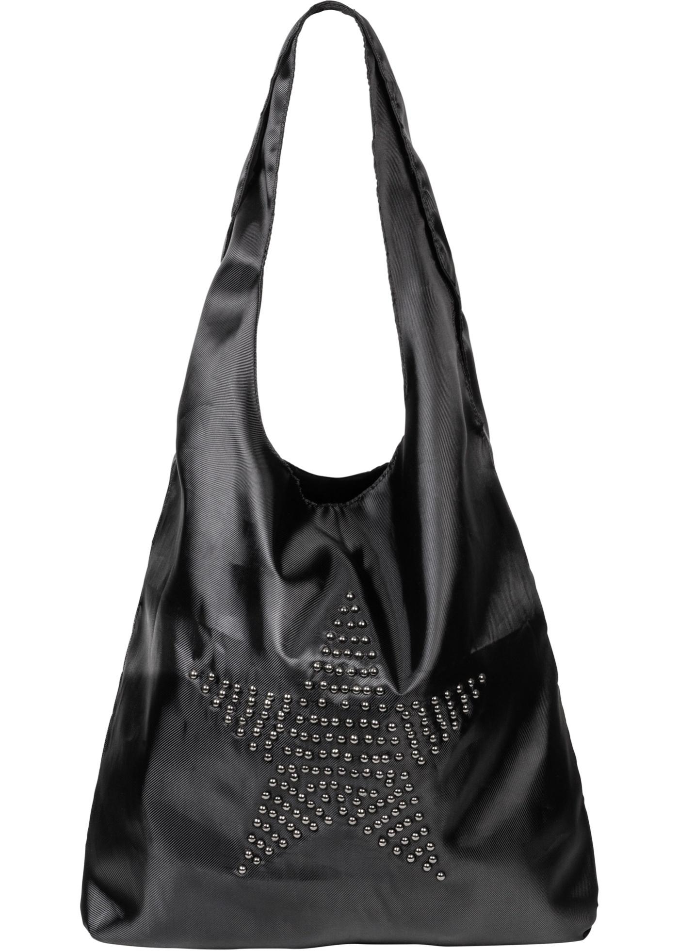 Velká taška s nýty - Černá