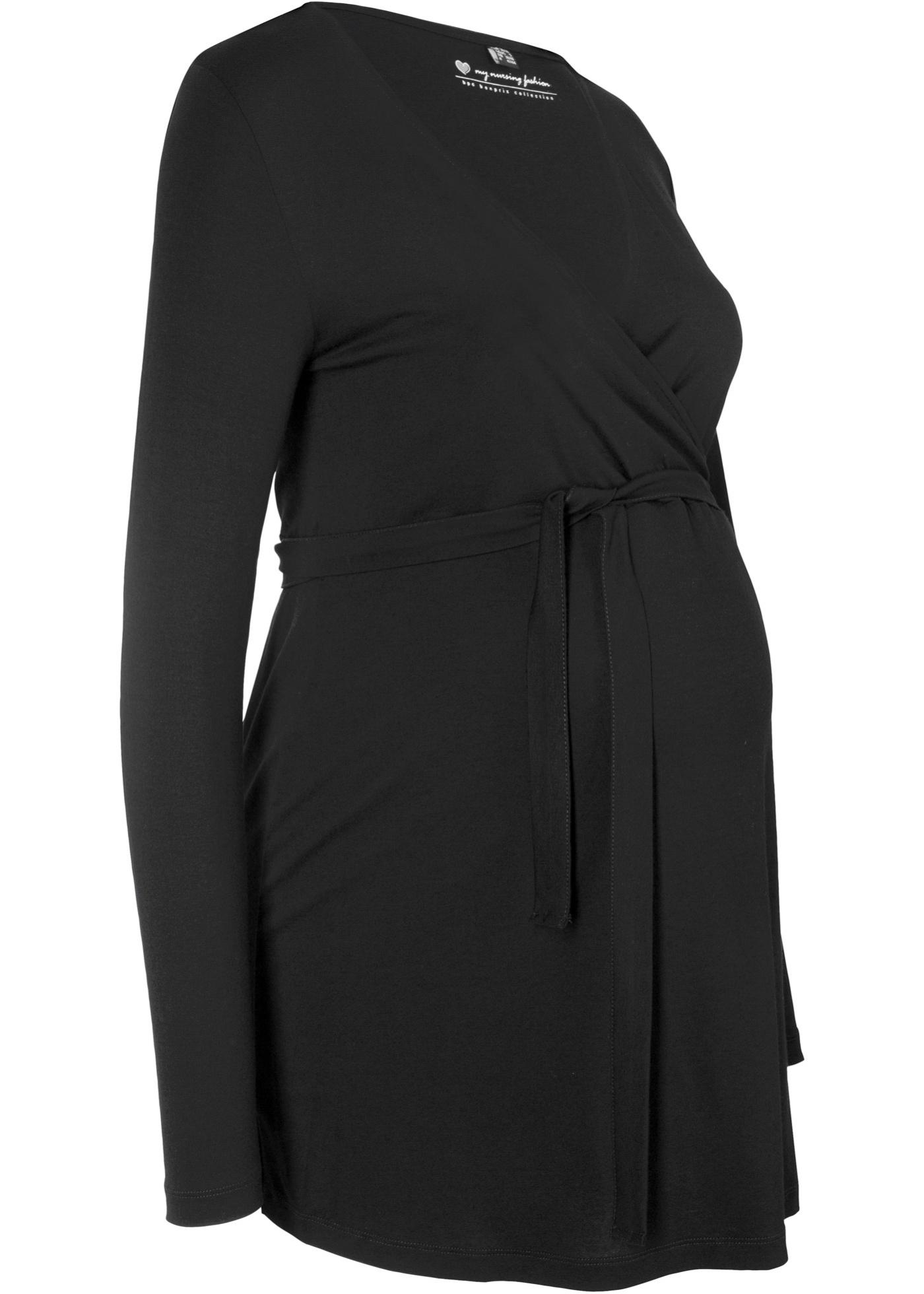 Těhotenské/kojící tričko - Černá