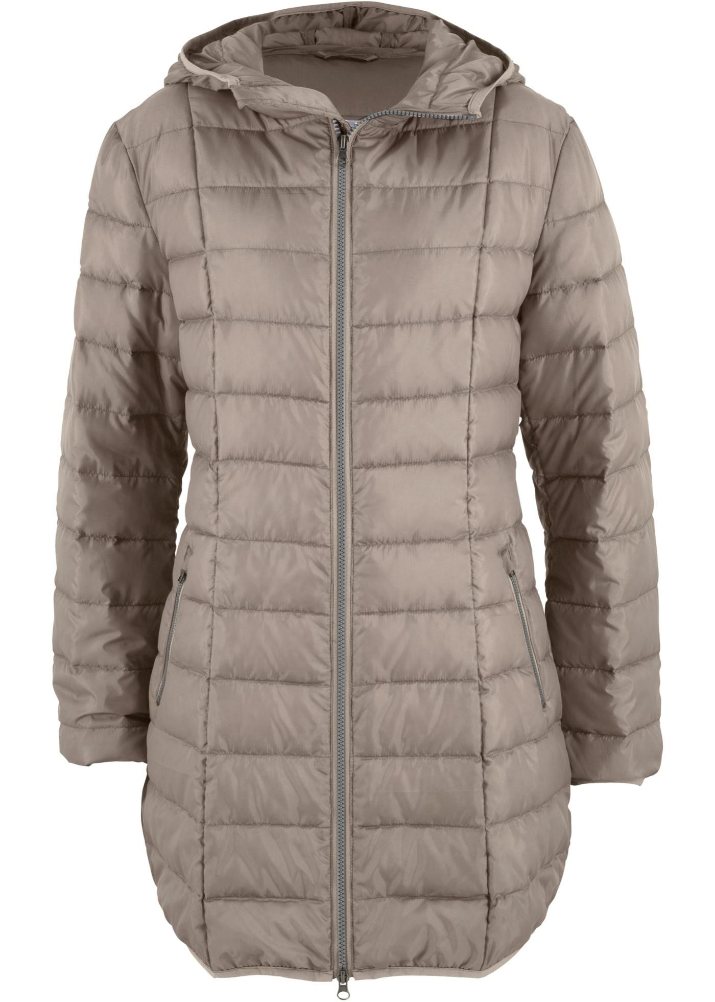 Velmi lehký péřový kabát - Hnědá