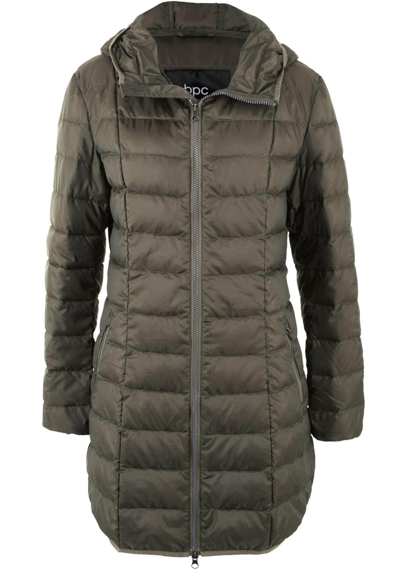 Velmi lehký péřový kabát - Zelená