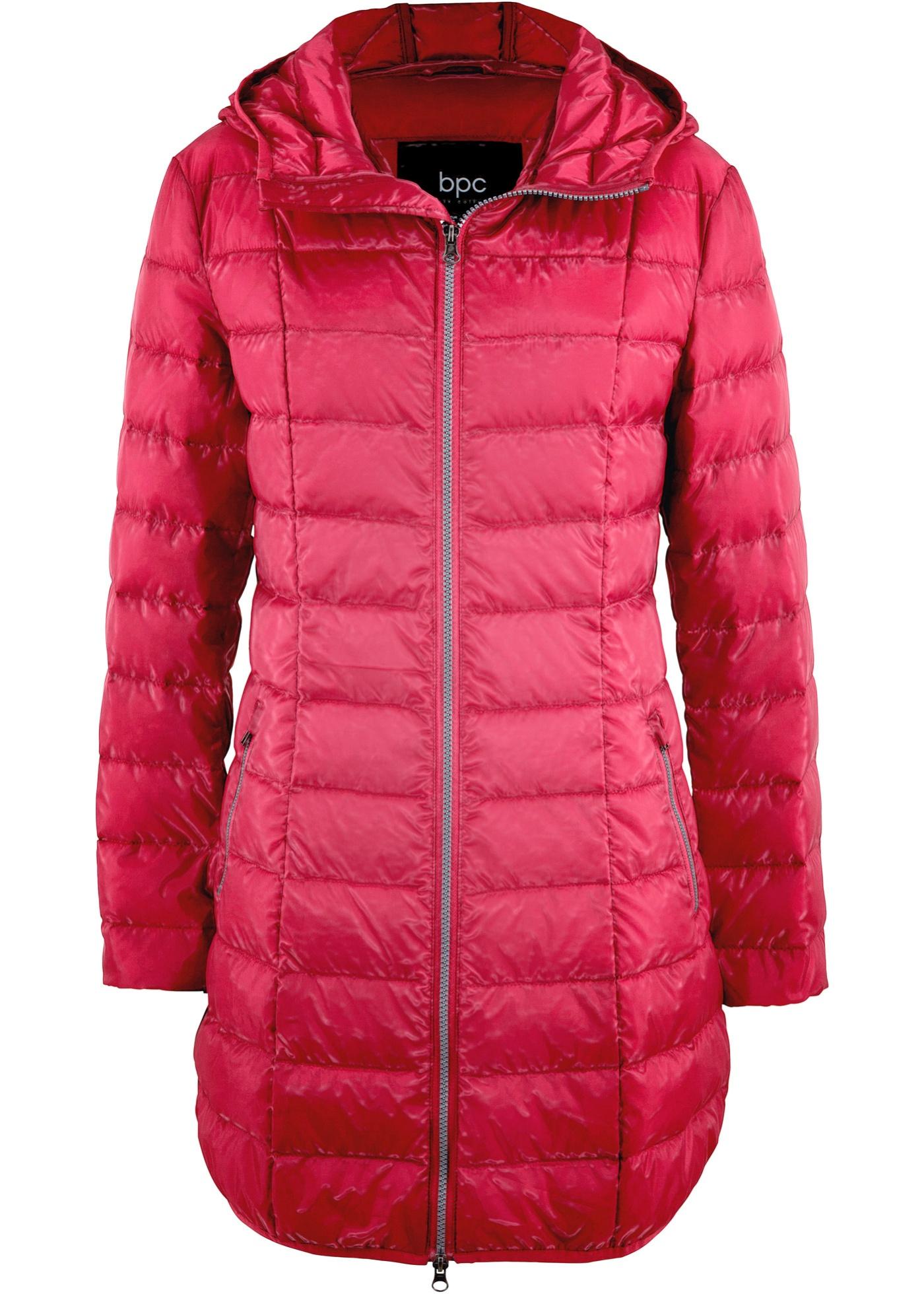 Velmi lehký péřový kabát - Červená