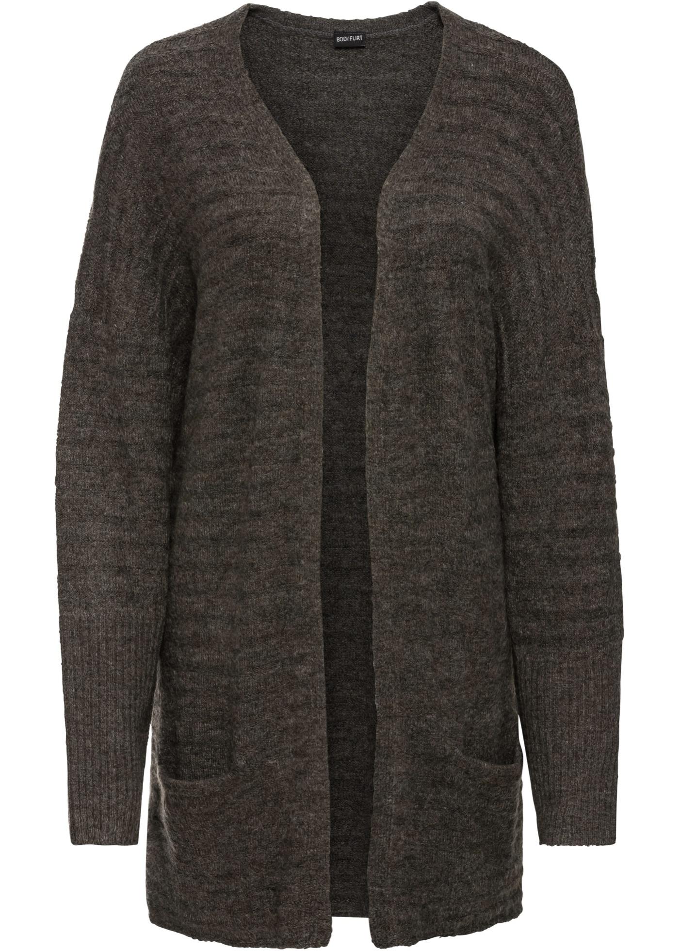 Dlouhý pletený kabátek - Zelená 48570f6f24