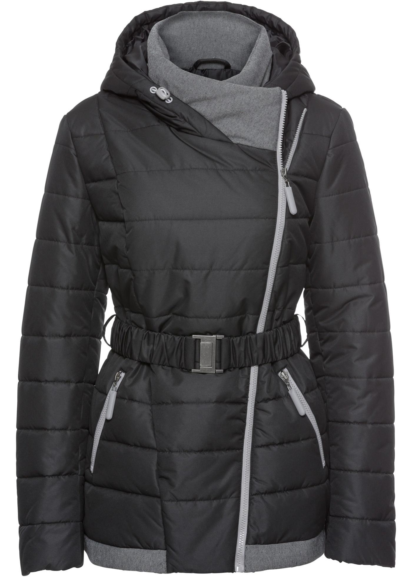 Krátký zimní kabát - Černá
