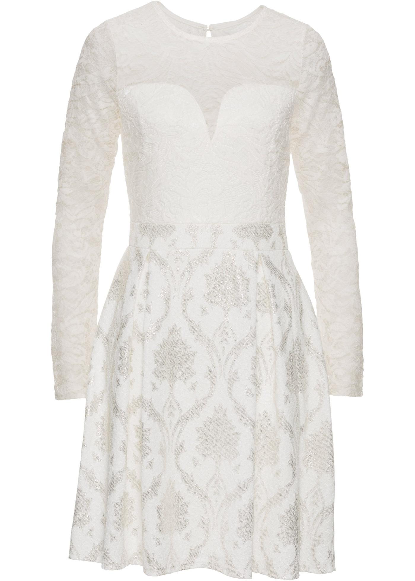 Šaty s krajkou - Bílá