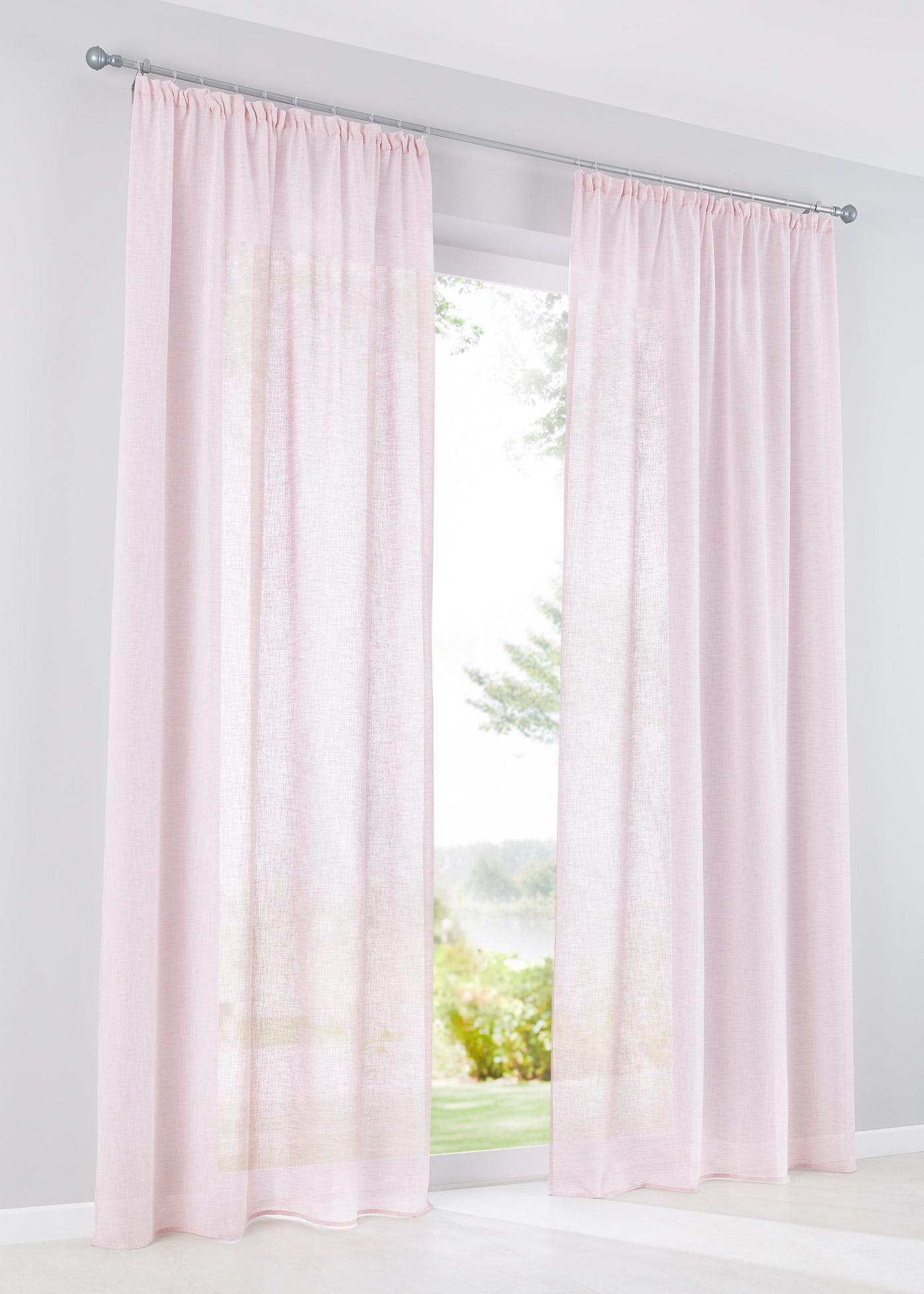 Záclona ''Zhara'' (1 ks) - Růžová