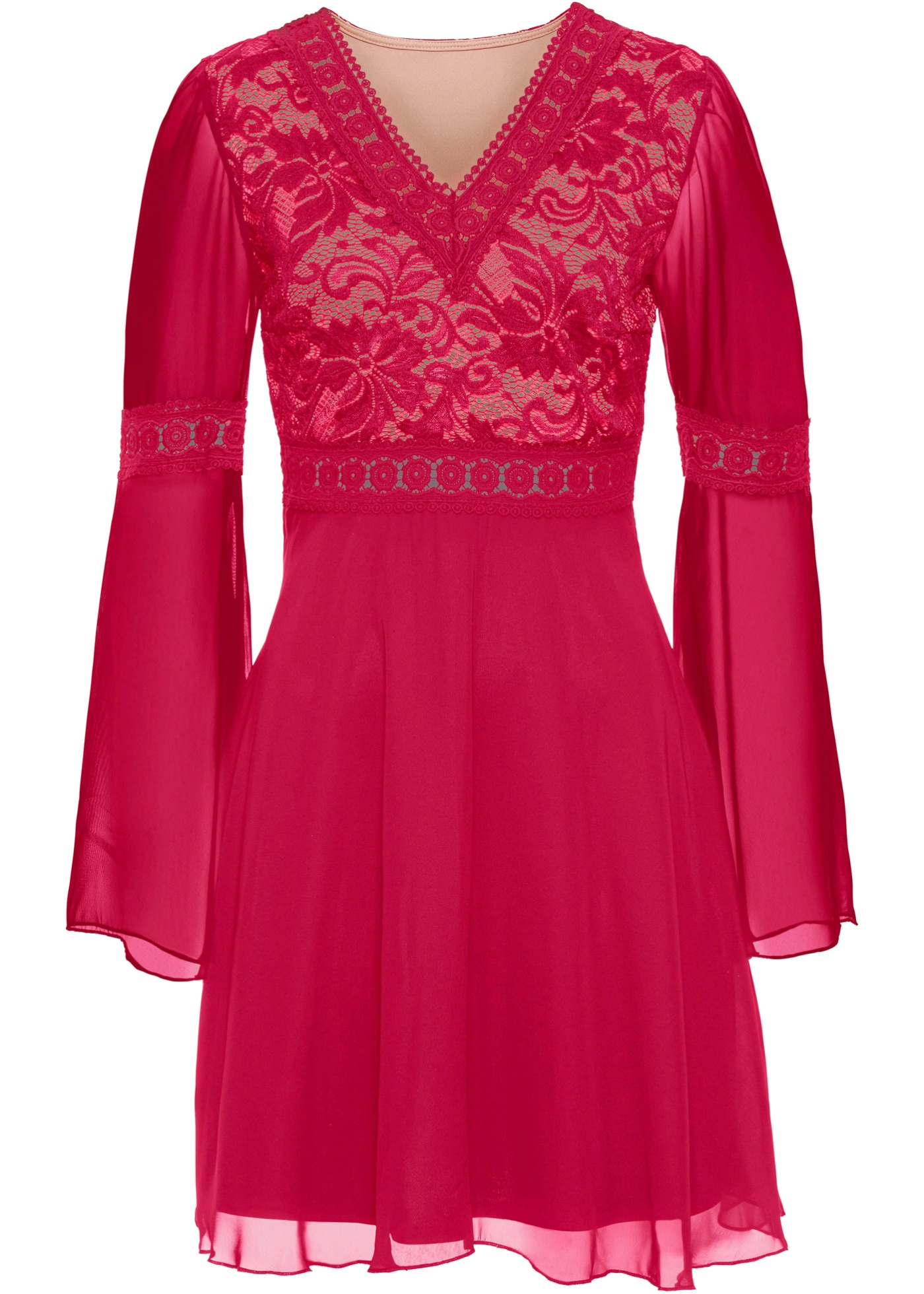 Šaty s krajkou - Pink