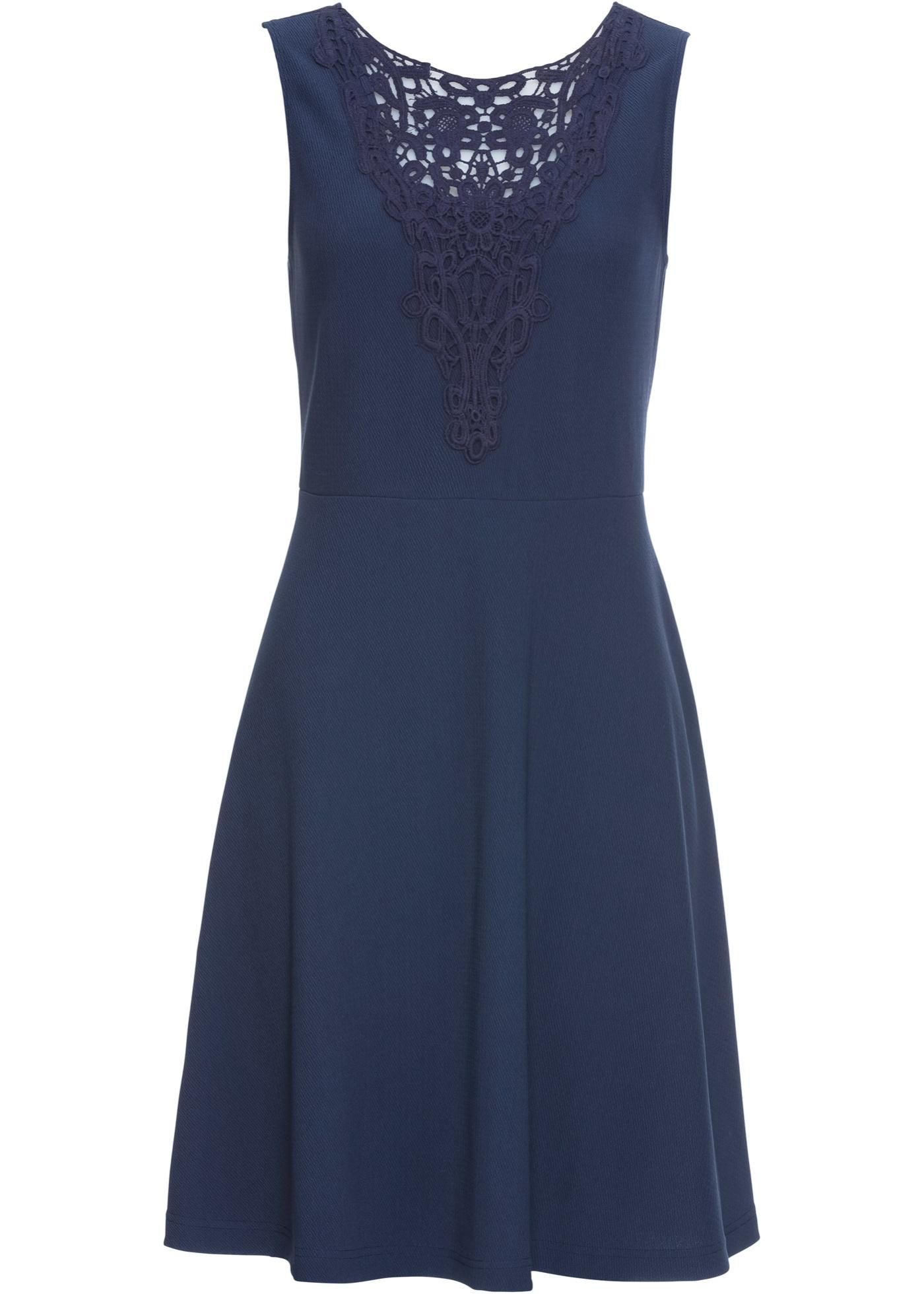 Šaty s krajkou - Modrá