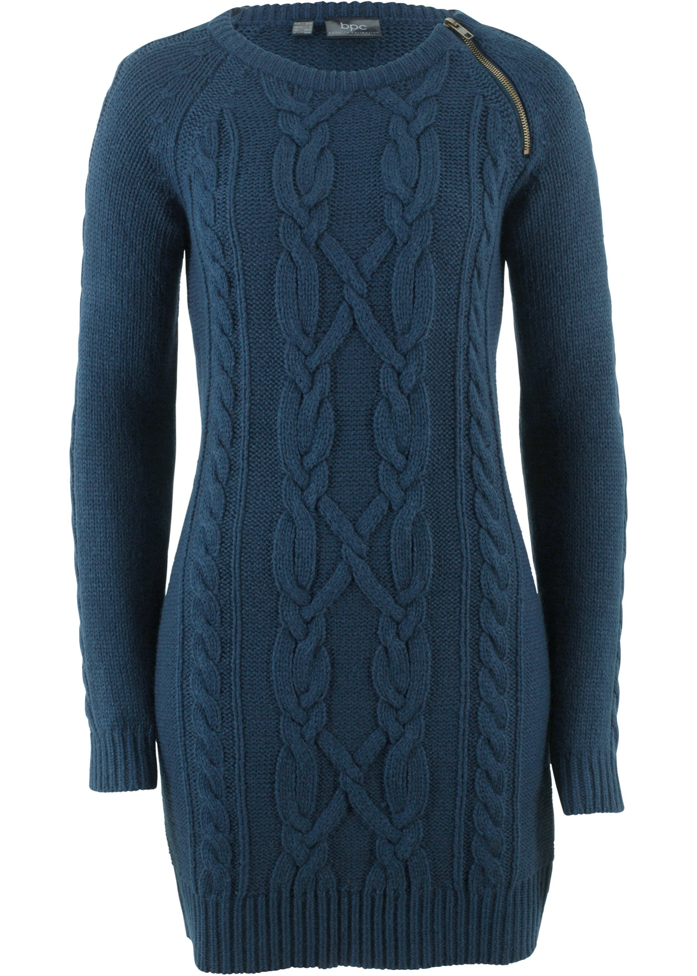 Pletené šaty - Modrá