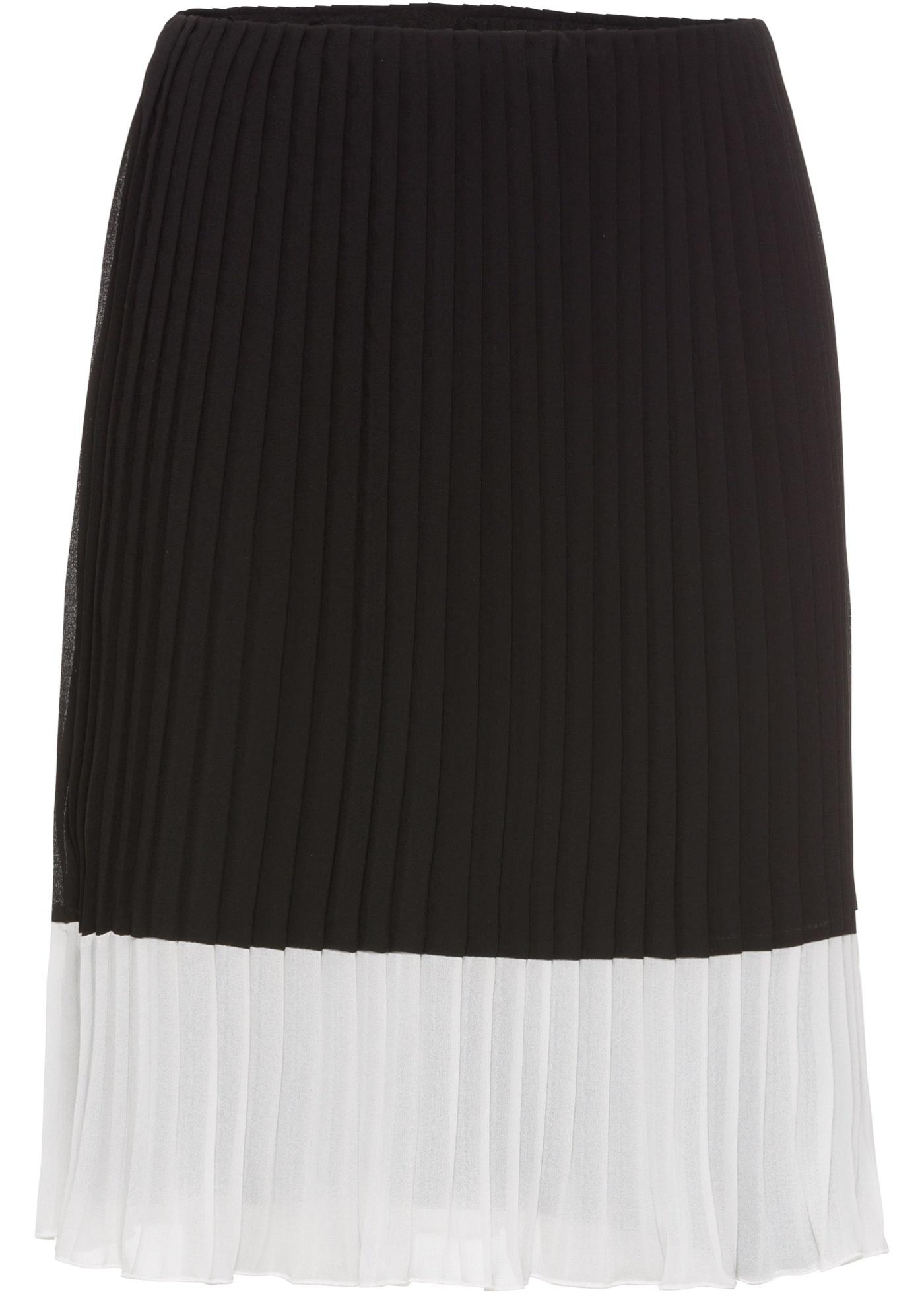 ef3da94662e3 Skládaná sukně - Černá