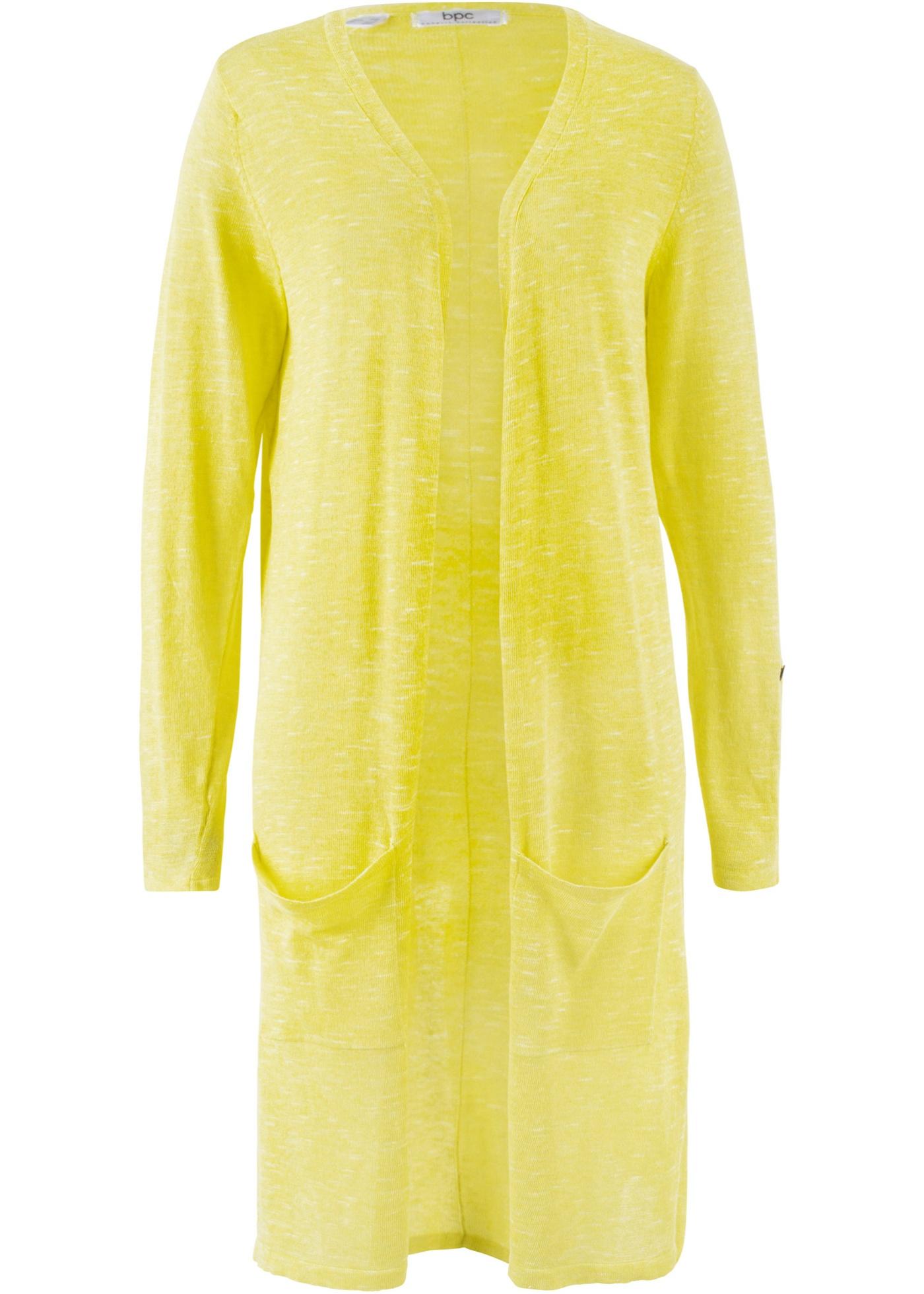 Dlouhý pletený kabátek - Zelená