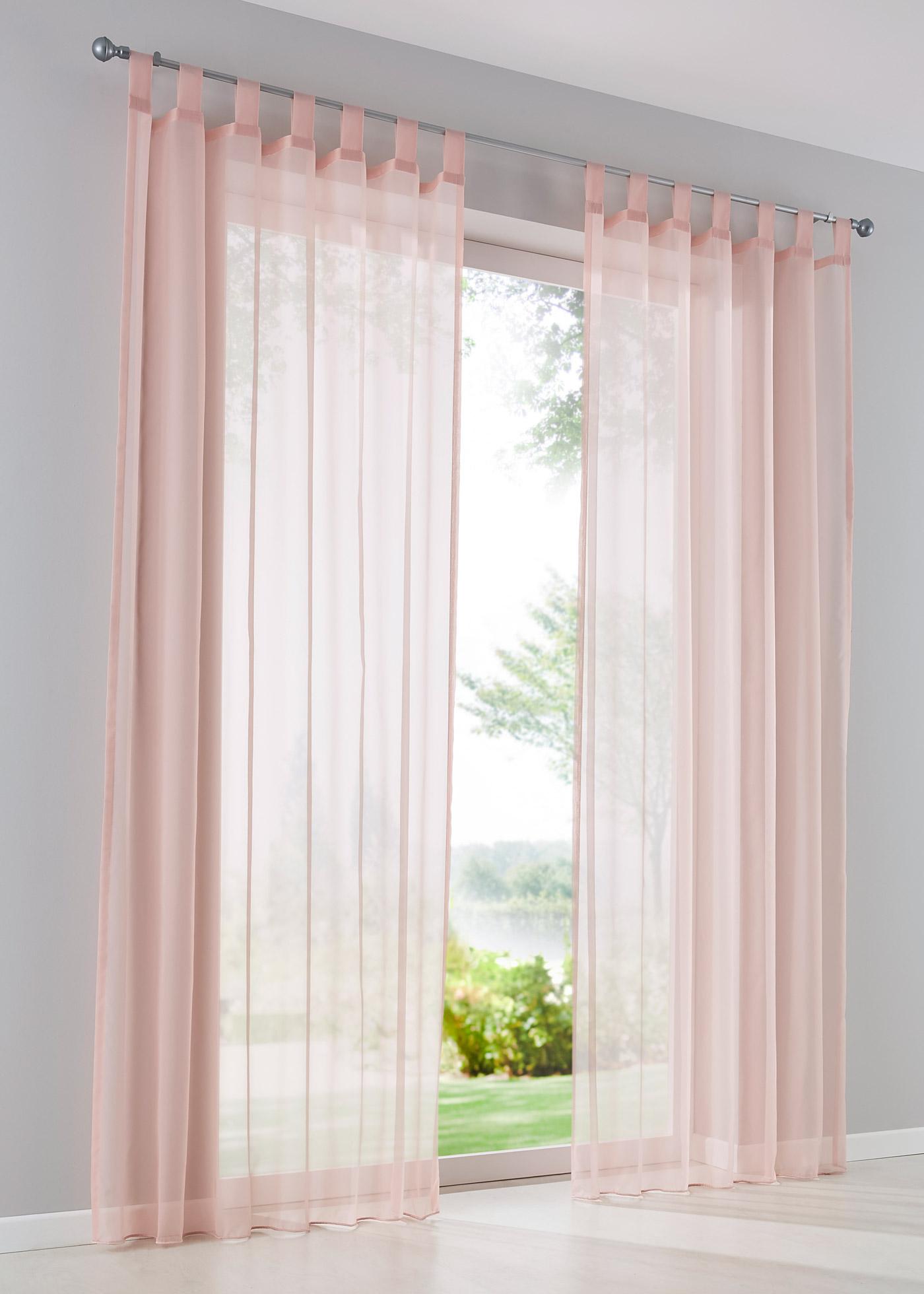 Záclona Uni (1ks v balení) - Růžová